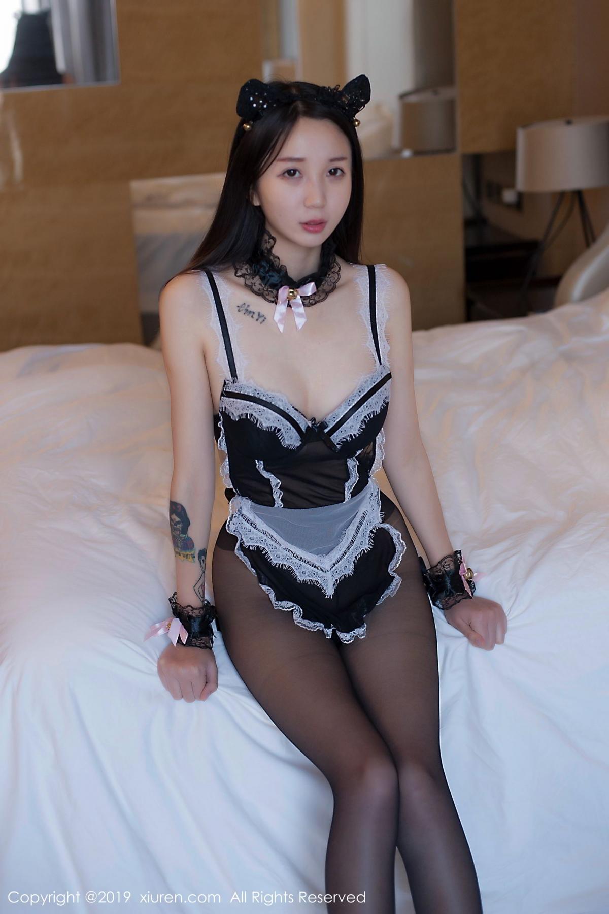 [XiuRen] Vol.1682 Bai Mo 41P, Bai Mo, Black Silk, Underwear, Xiuren