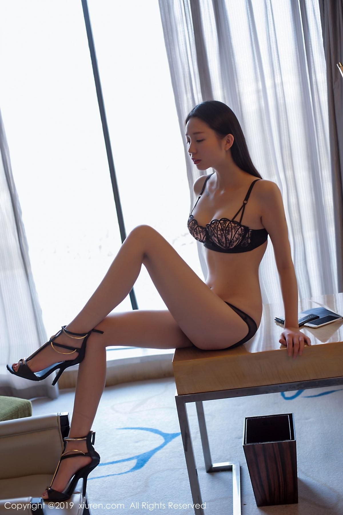 [XiuRen] Vol.1682 Bai Mo 4P, Bai Mo, Black Silk, Underwear, Xiuren
