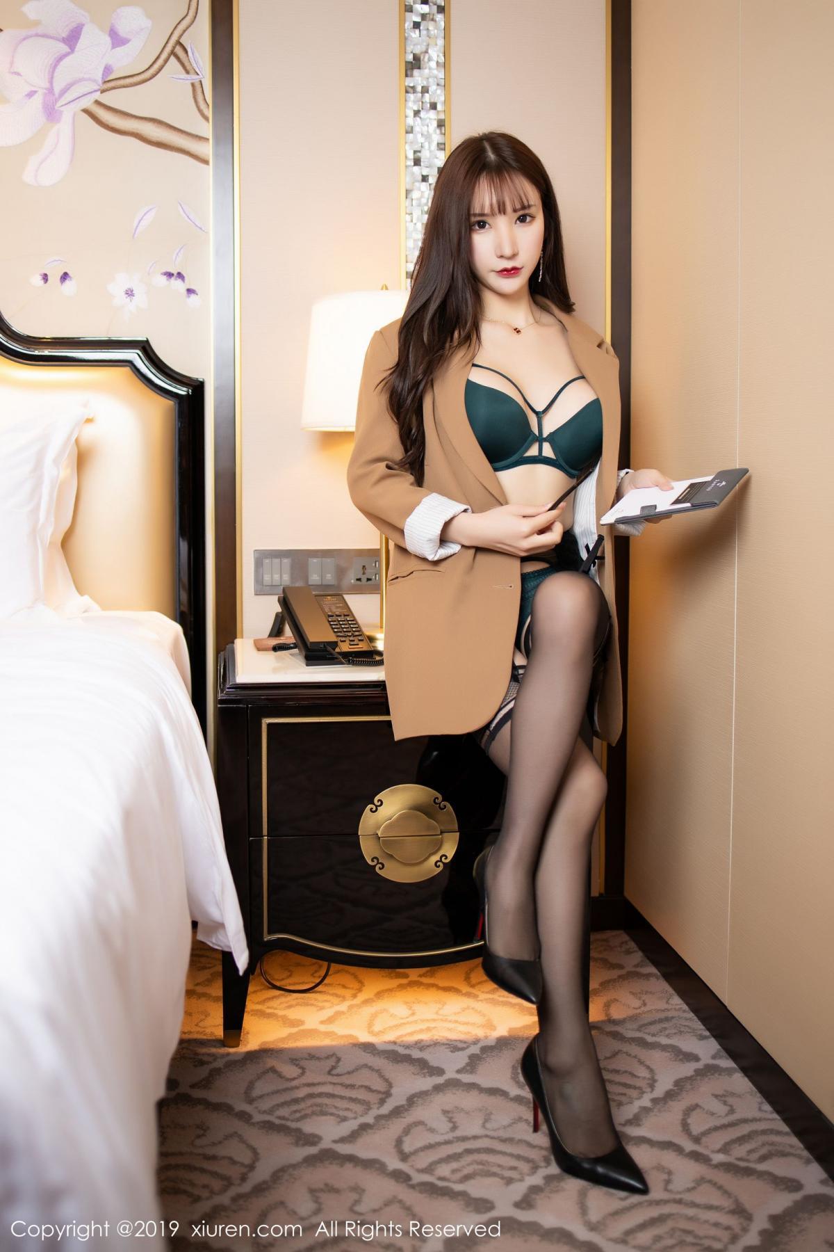 [XiuRen] Vol.1687 Zhou Yu Xi 13P, Black Silk, Underwear, Xiuren, Zhou Yu Xi