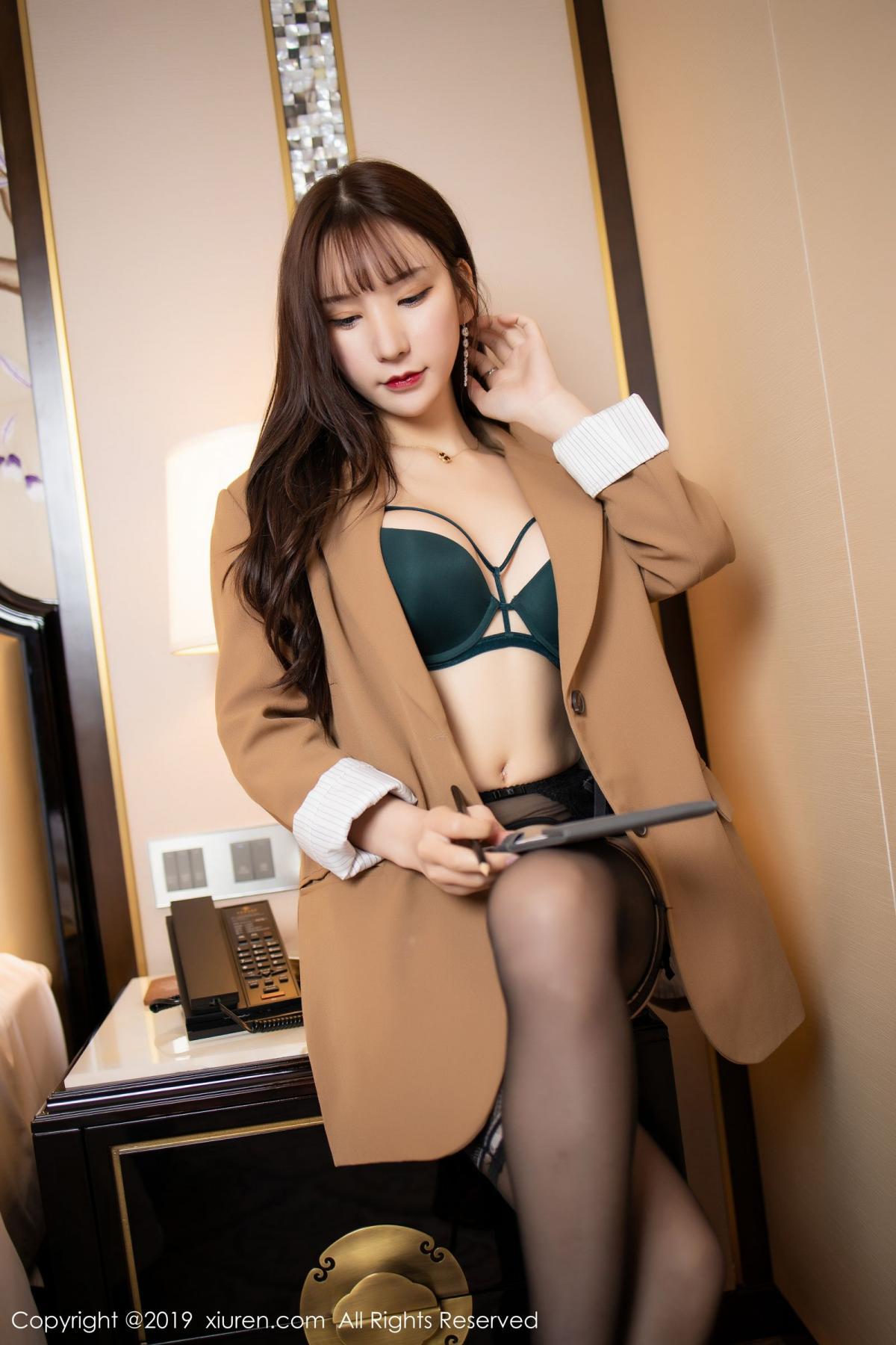 [XiuRen] Vol.1687 Zhou Yu Xi 14P, Black Silk, Underwear, Xiuren, Zhou Yu Xi