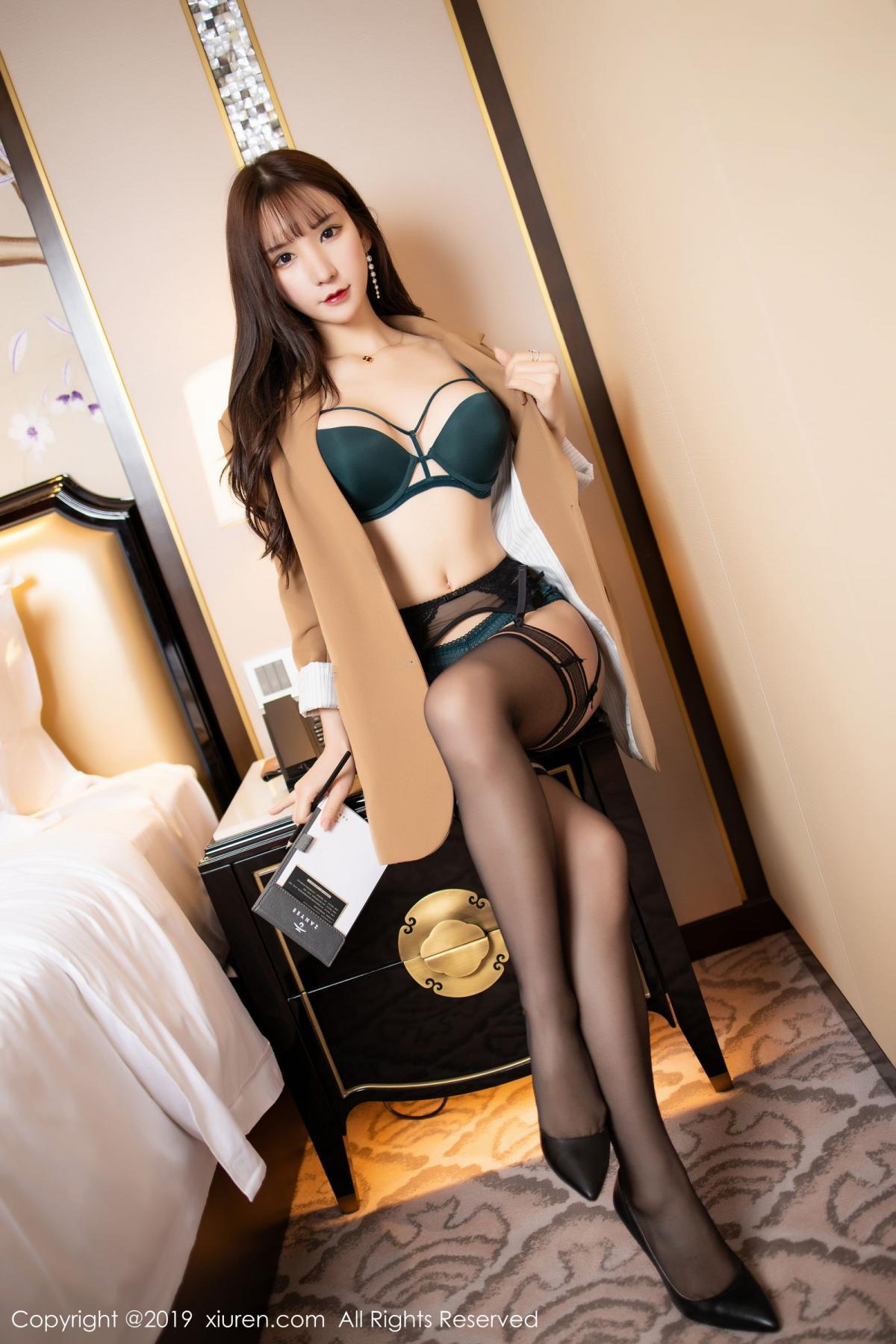 [XiuRen] Vol.1687 Zhou Yu Xi 16P, Black Silk, Underwear, Xiuren, Zhou Yu Xi
