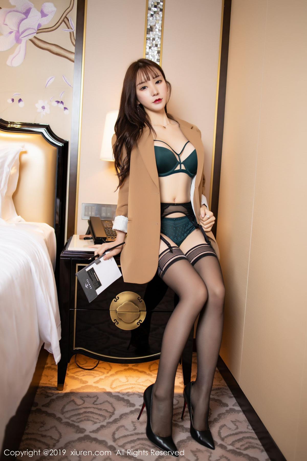 [XiuRen] Vol.1687 Zhou Yu Xi 17P, Black Silk, Underwear, Xiuren, Zhou Yu Xi