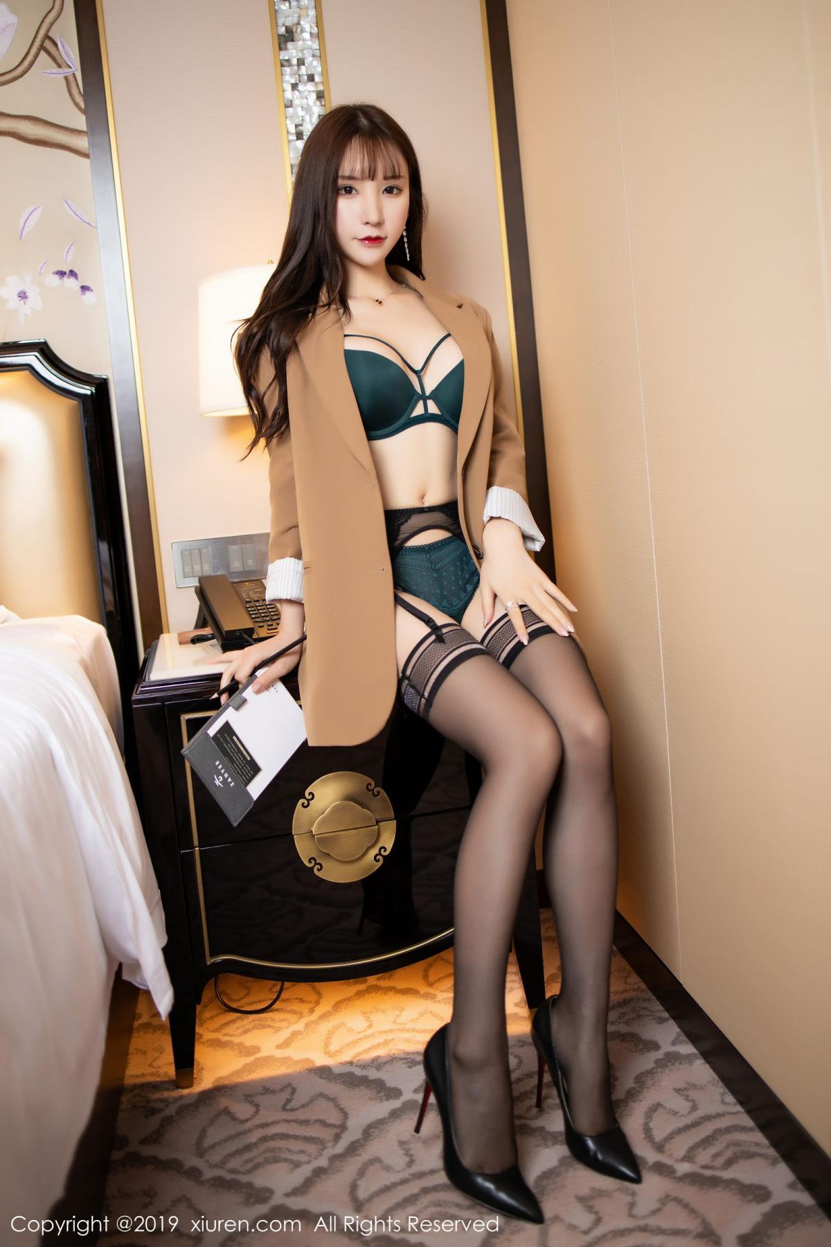[XiuRen] Vol.1687 Zhou Yu Xi 18P, Black Silk, Underwear, Xiuren, Zhou Yu Xi