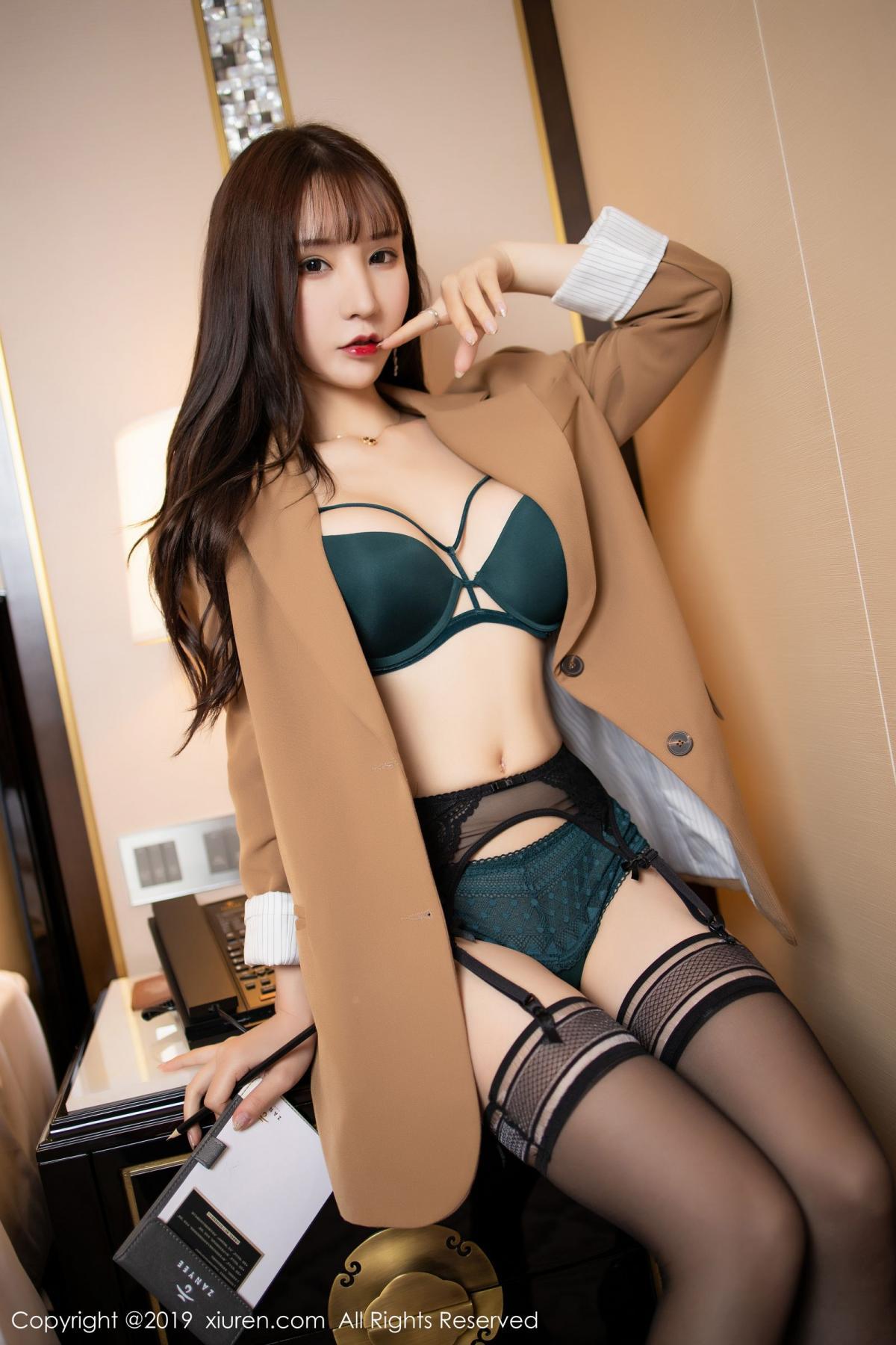 [XiuRen] Vol.1687 Zhou Yu Xi 19P, Black Silk, Underwear, Xiuren, Zhou Yu Xi