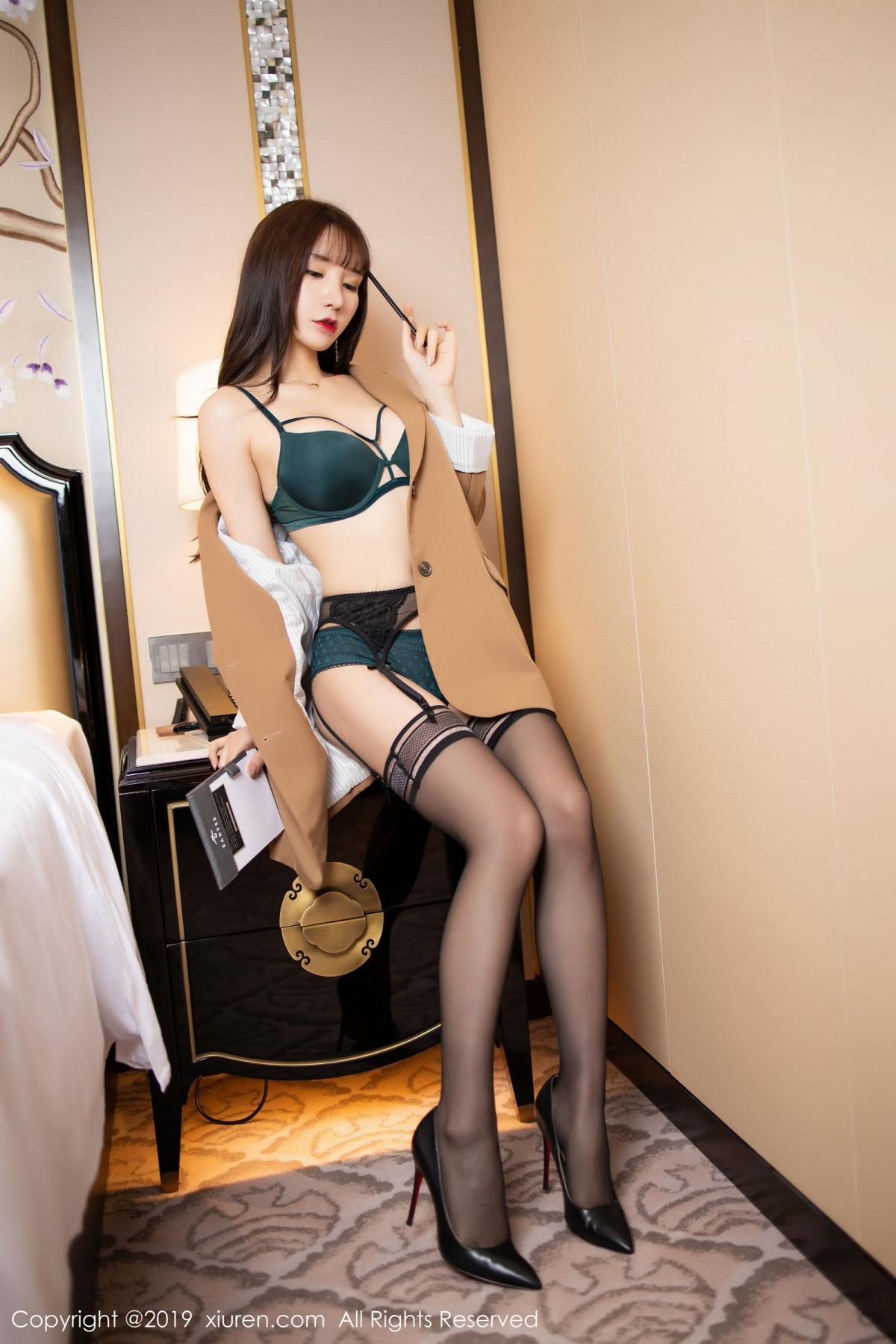 [XiuRen] Vol.1687 Zhou Yu Xi 21P, Black Silk, Underwear, Xiuren, Zhou Yu Xi
