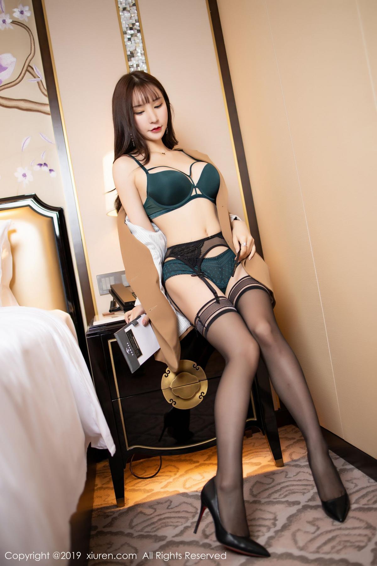 [XiuRen] Vol.1687 Zhou Yu Xi 22P, Black Silk, Underwear, Xiuren, Zhou Yu Xi