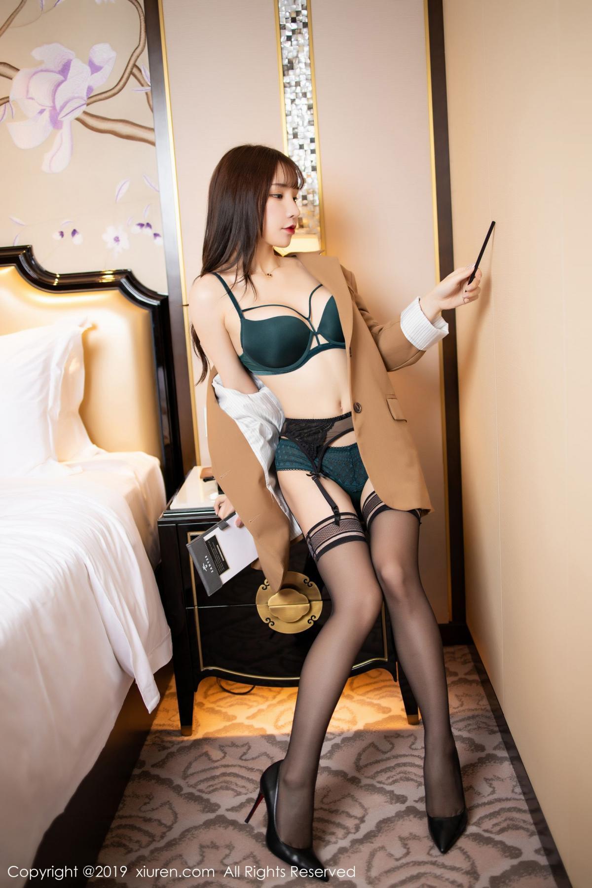 [XiuRen] Vol.1687 Zhou Yu Xi 23P, Black Silk, Underwear, Xiuren, Zhou Yu Xi