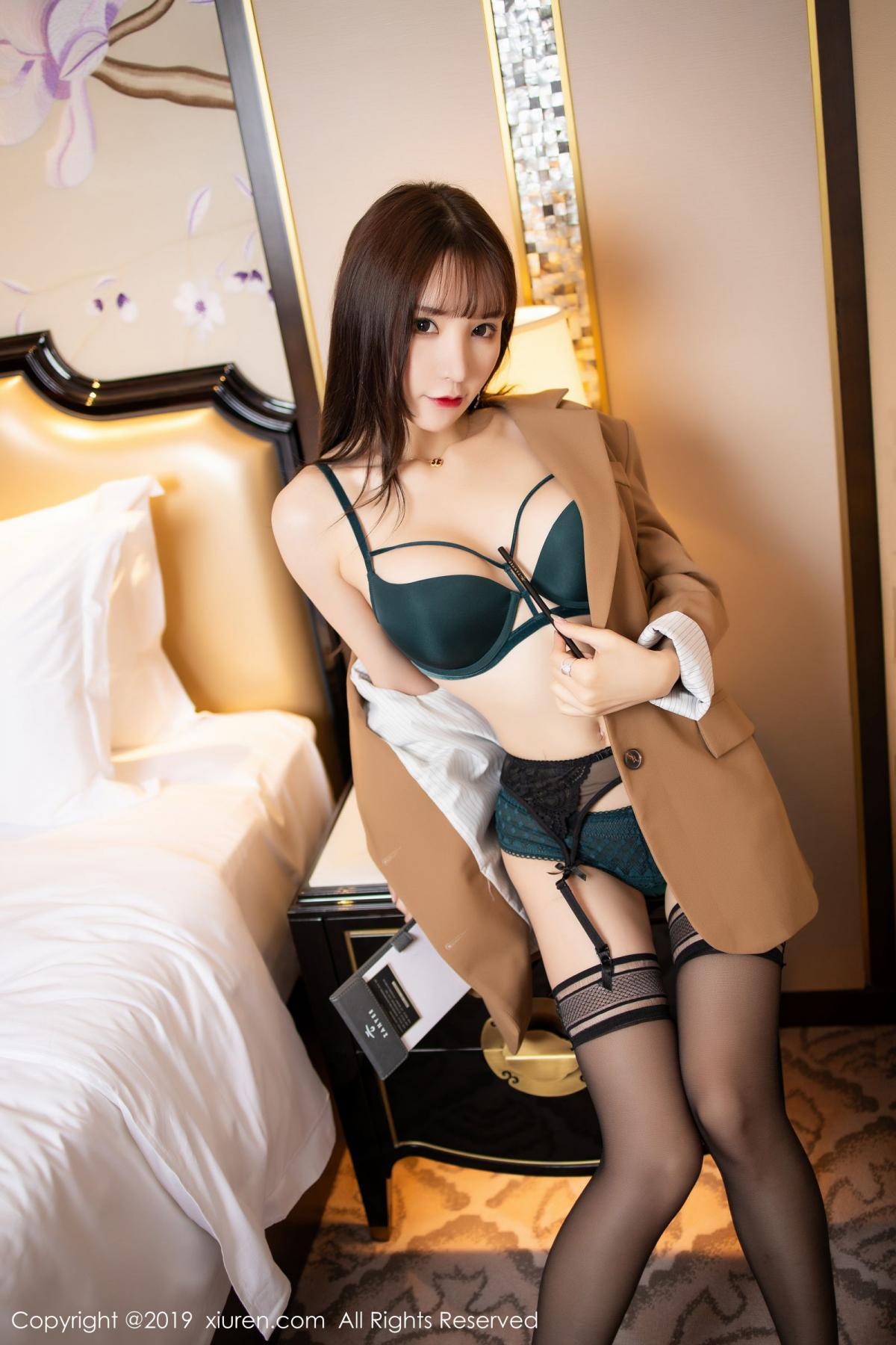 [XiuRen] Vol.1687 Zhou Yu Xi 24P, Black Silk, Underwear, Xiuren, Zhou Yu Xi