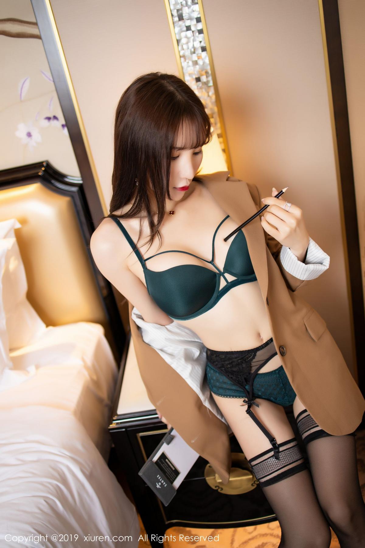 [XiuRen] Vol.1687 Zhou Yu Xi 25P, Black Silk, Underwear, Xiuren, Zhou Yu Xi