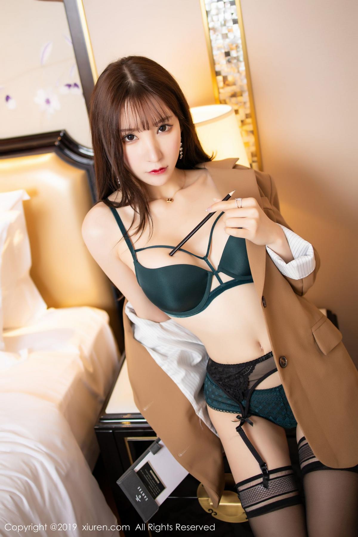 [XiuRen] Vol.1687 Zhou Yu Xi 26P, Black Silk, Underwear, Xiuren, Zhou Yu Xi