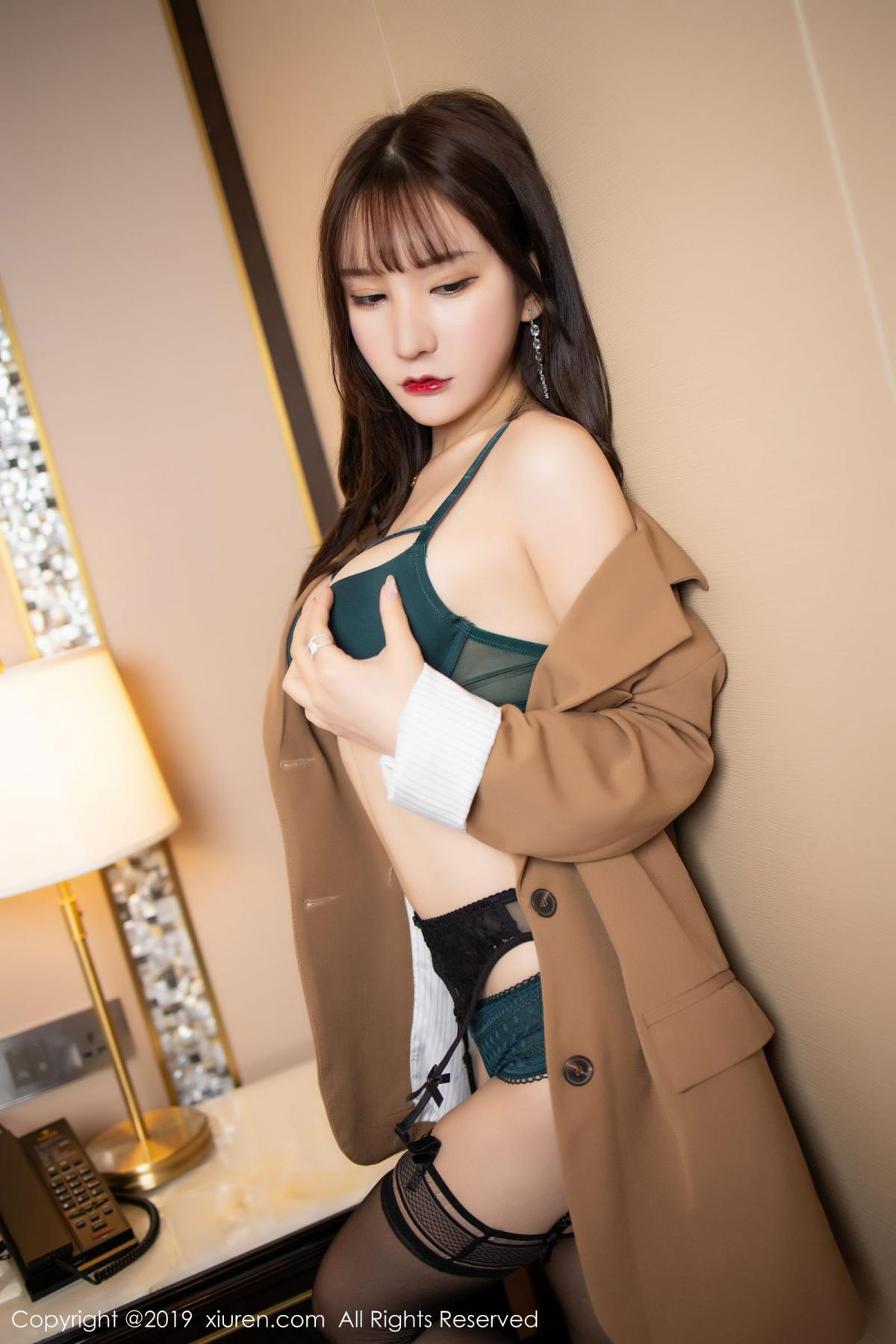 [XiuRen] Vol.1687 Zhou Yu Xi 30P, Black Silk, Underwear, Xiuren, Zhou Yu Xi
