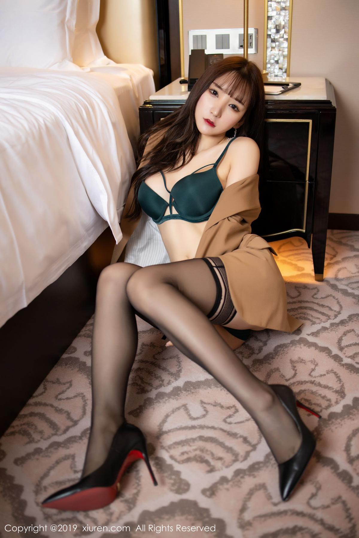[XiuRen] Vol.1687 Zhou Yu Xi 33P, Black Silk, Underwear, Xiuren, Zhou Yu Xi