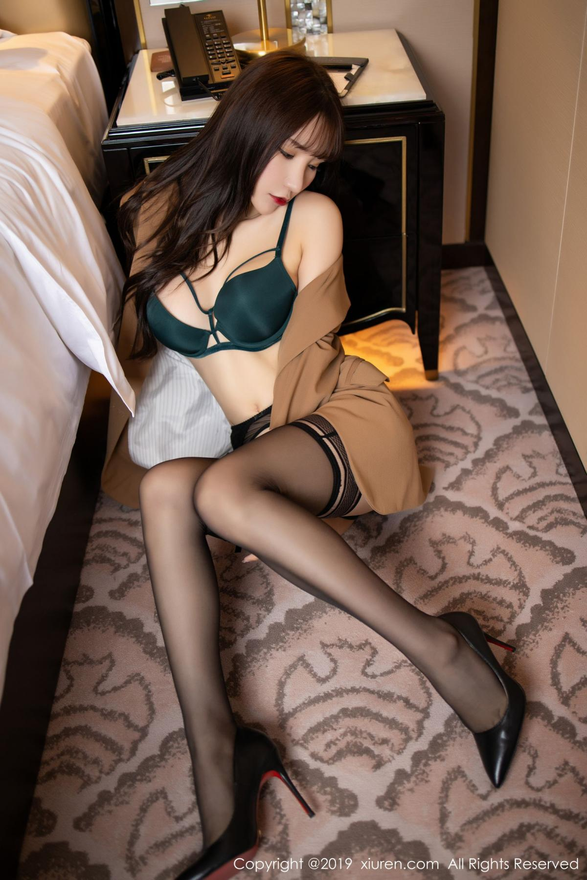 [XiuRen] Vol.1687 Zhou Yu Xi 35P, Black Silk, Underwear, Xiuren, Zhou Yu Xi