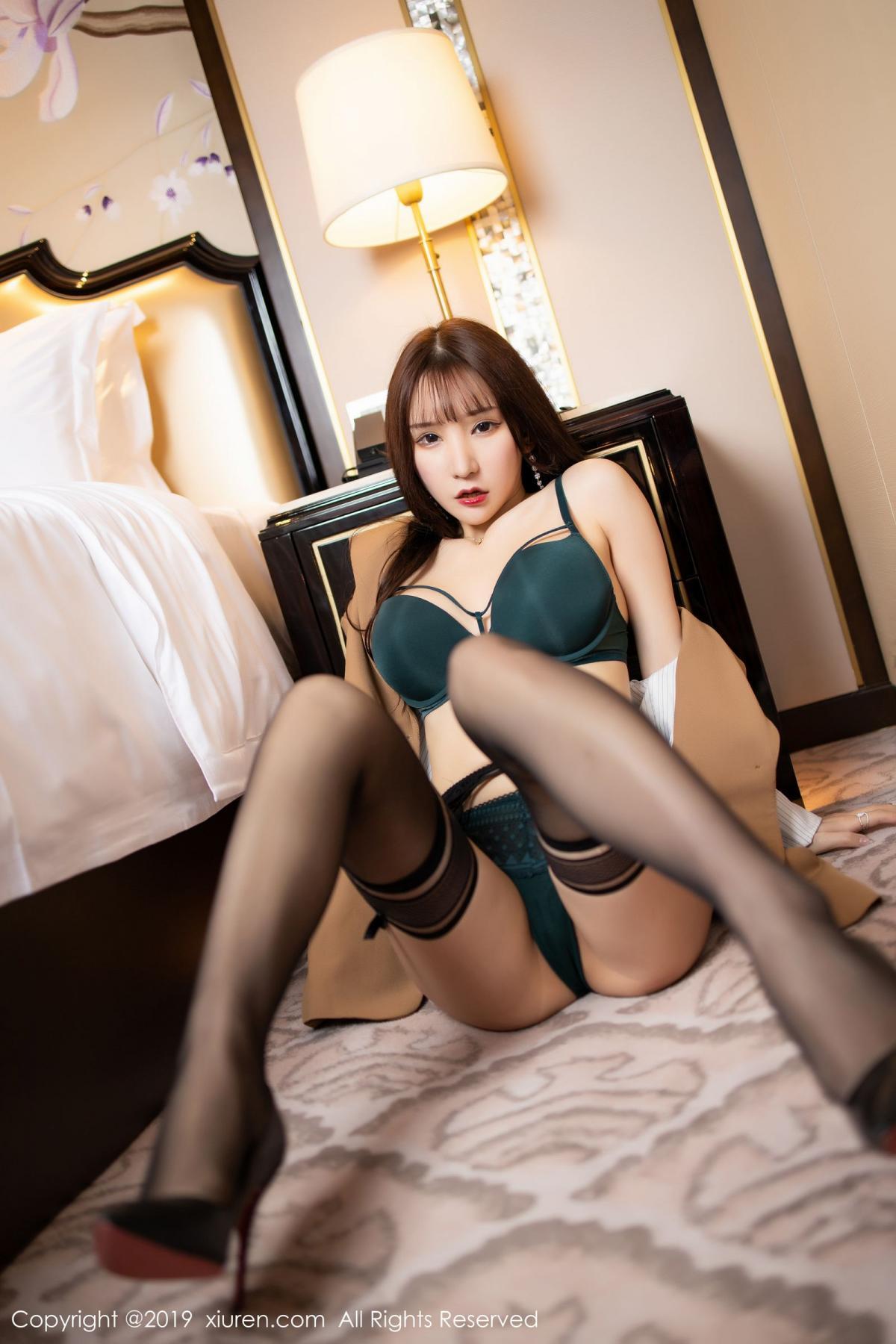 [XiuRen] Vol.1687 Zhou Yu Xi 40P, Black Silk, Underwear, Xiuren, Zhou Yu Xi