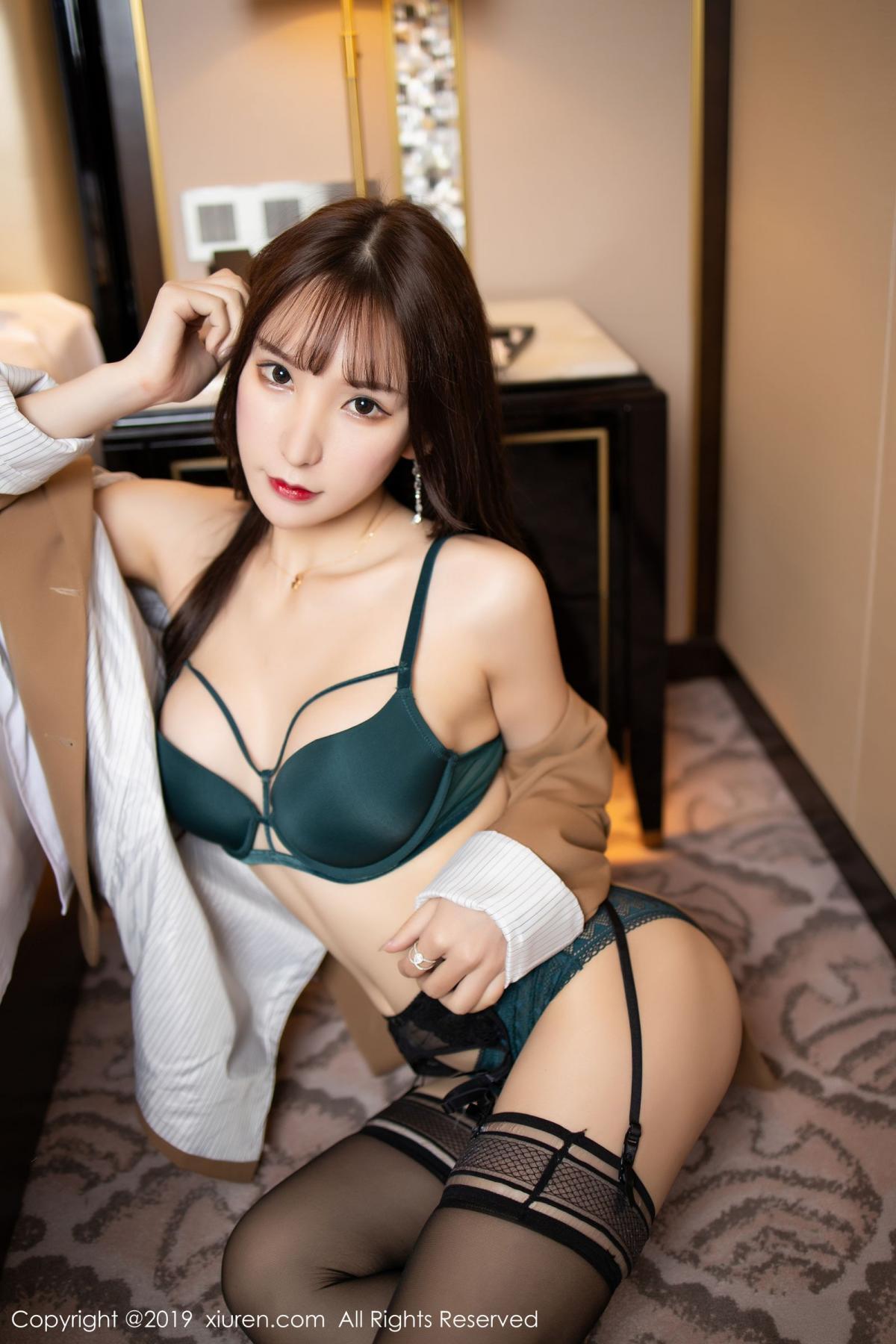 [XiuRen] Vol.1687 Zhou Yu Xi 49P, Black Silk, Underwear, Xiuren, Zhou Yu Xi