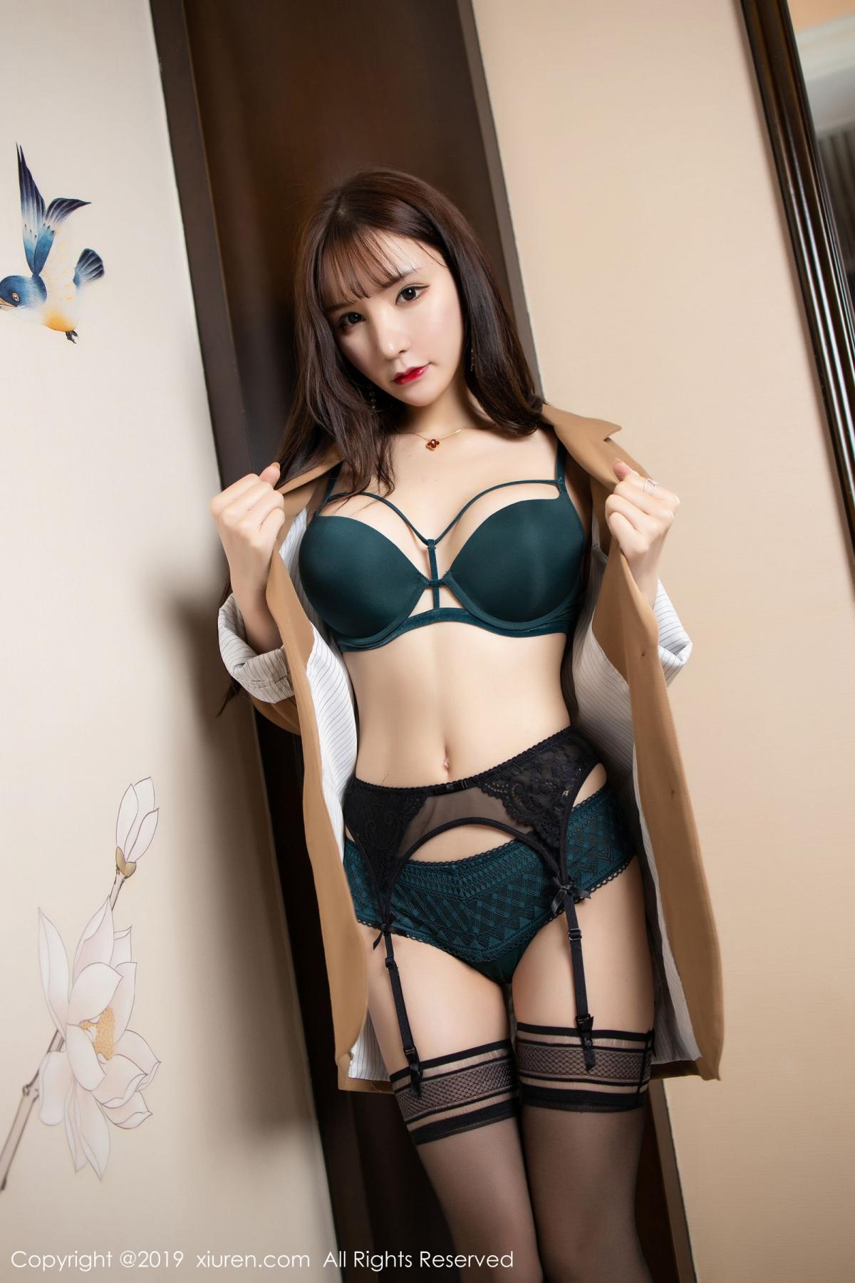 [XiuRen] Vol.1687 Zhou Yu Xi 6P, Black Silk, Underwear, Xiuren, Zhou Yu Xi