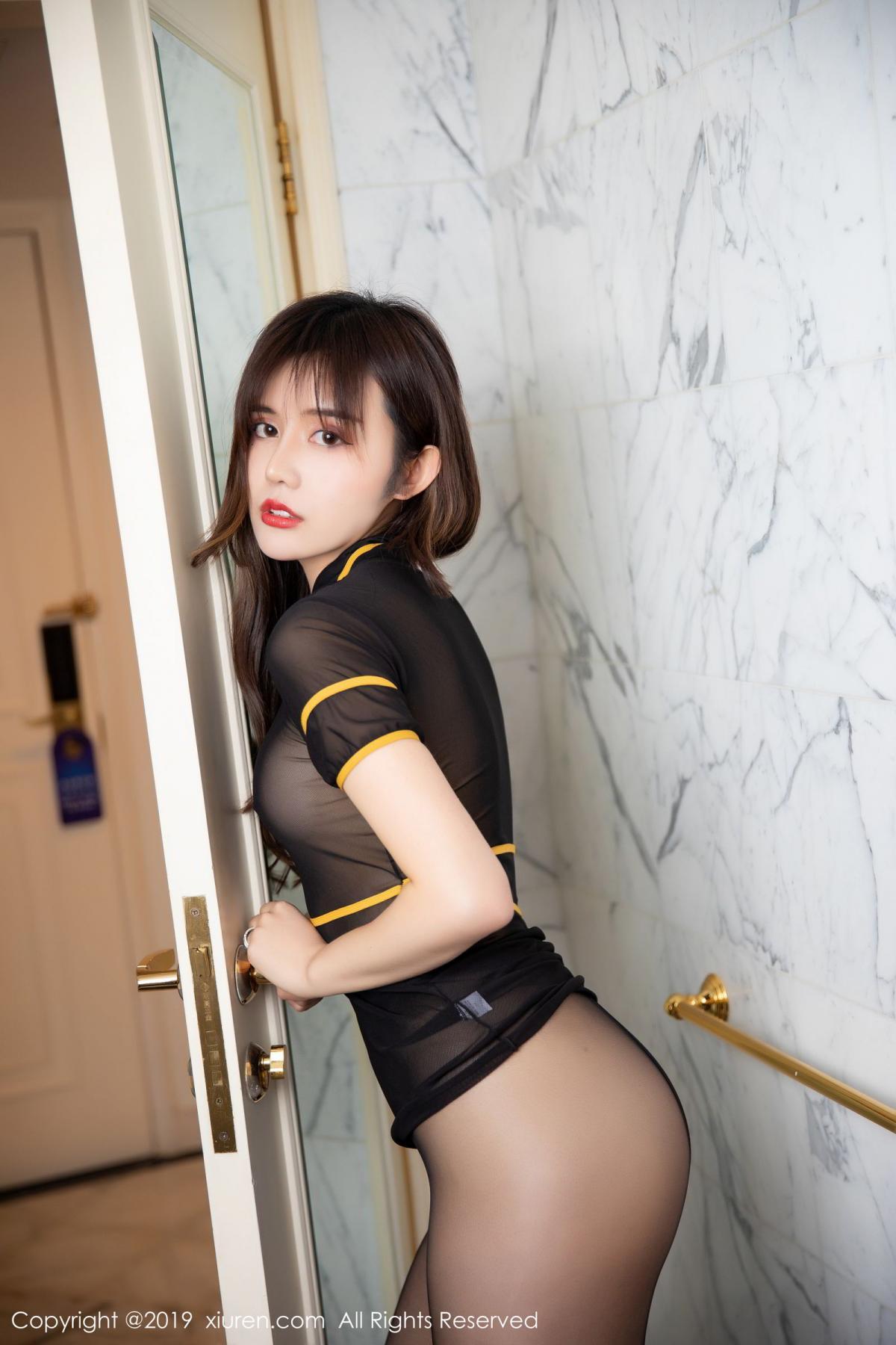 [XiuRen] Vol.1688 Zhuo Ya Qi 18P, Black Silk, Underwear, Xiuren, Zhuo Ya Qi