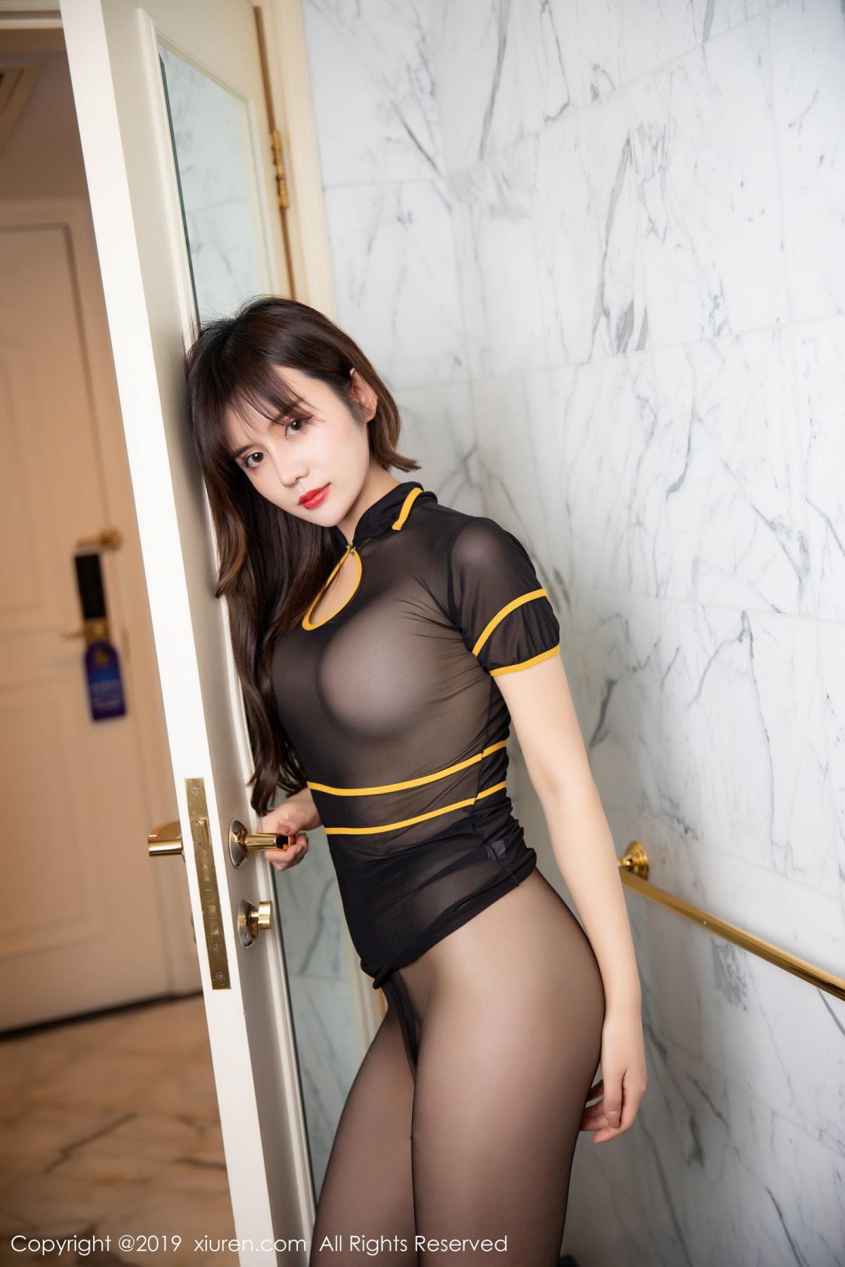 [XiuRen] Vol.1688 Zhuo Ya Qi 19P, Black Silk, Underwear, Xiuren, Zhuo Ya Qi
