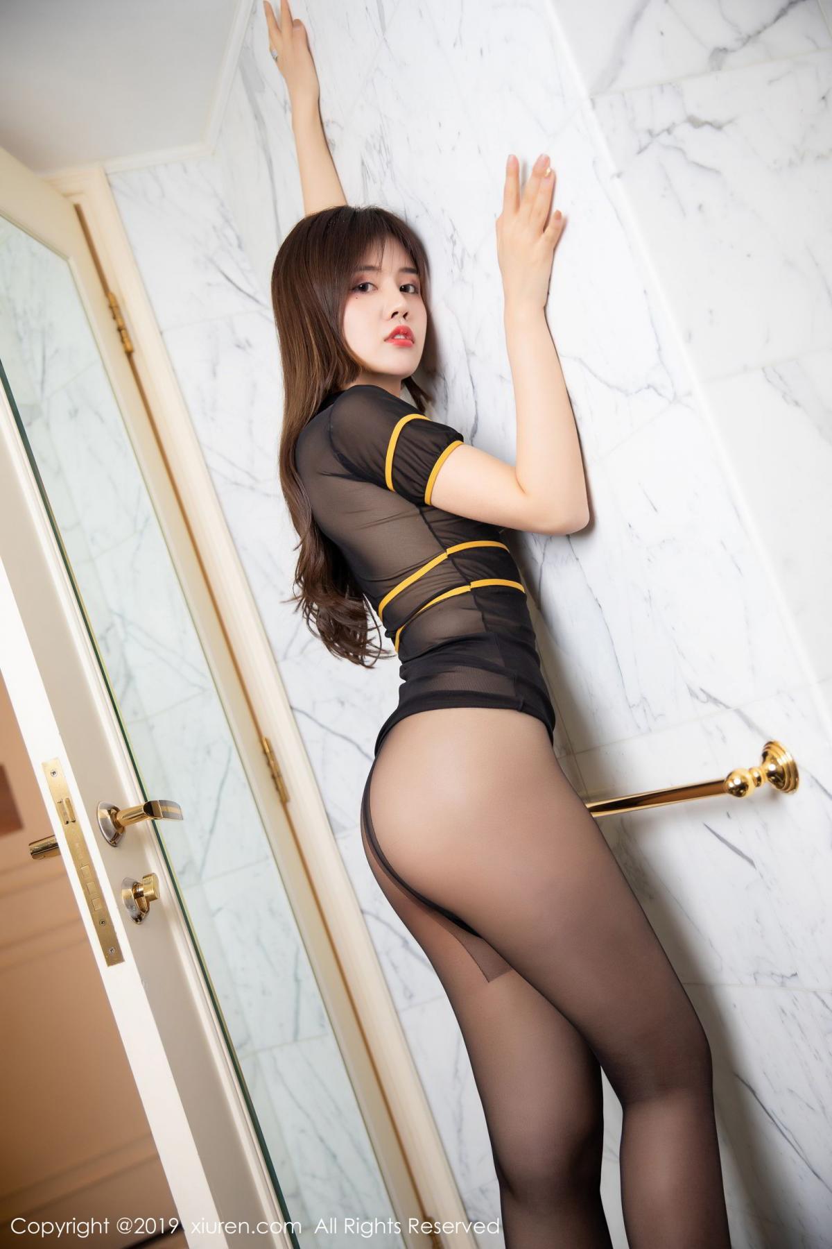 [XiuRen] Vol.1688 Zhuo Ya Qi 22P, Black Silk, Underwear, Xiuren, Zhuo Ya Qi