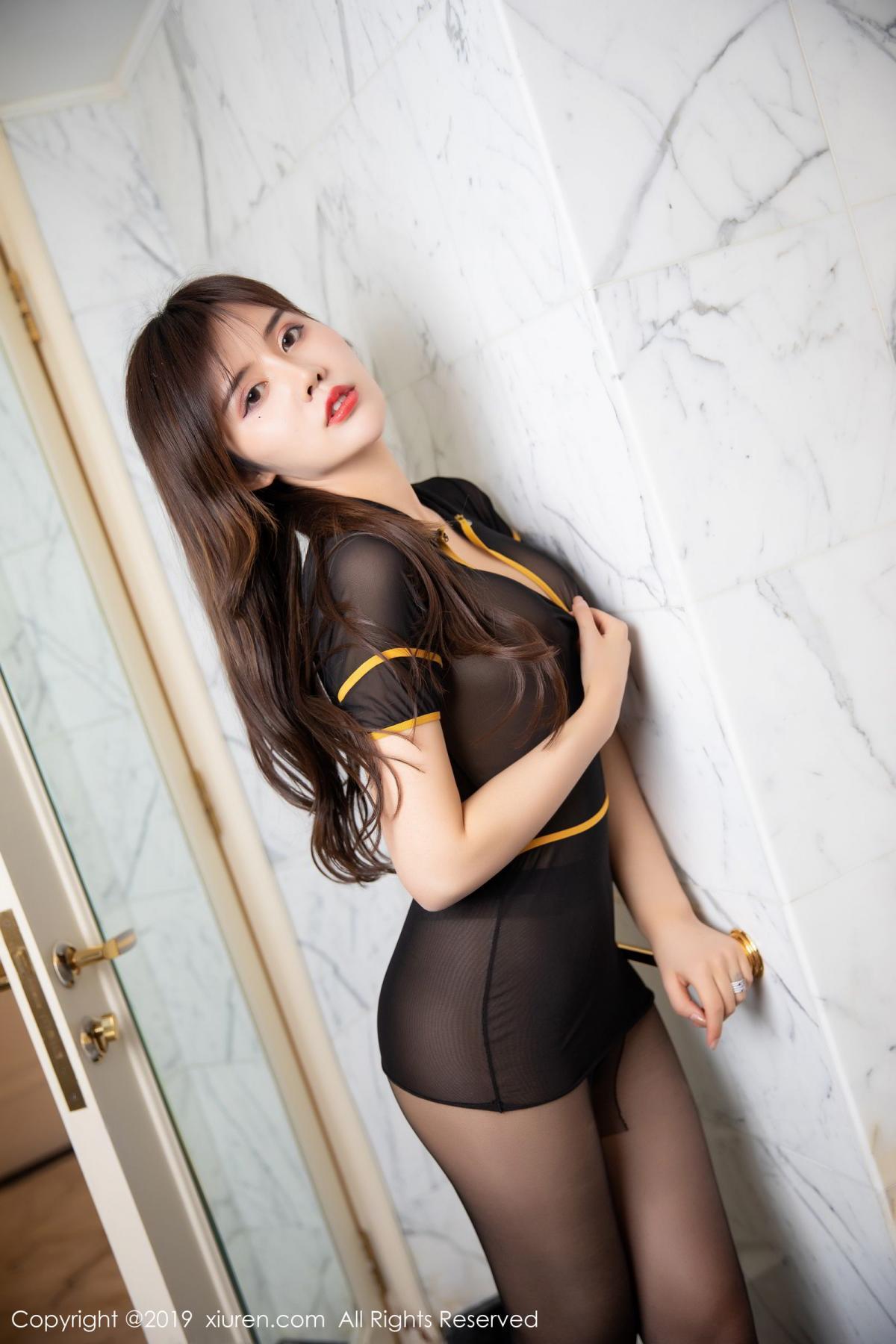 [XiuRen] Vol.1688 Zhuo Ya Qi 26P, Black Silk, Underwear, Xiuren, Zhuo Ya Qi