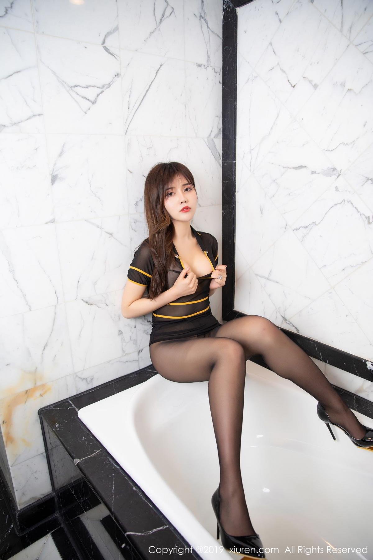 [XiuRen] Vol.1688 Zhuo Ya Qi 30P, Black Silk, Underwear, Xiuren, Zhuo Ya Qi