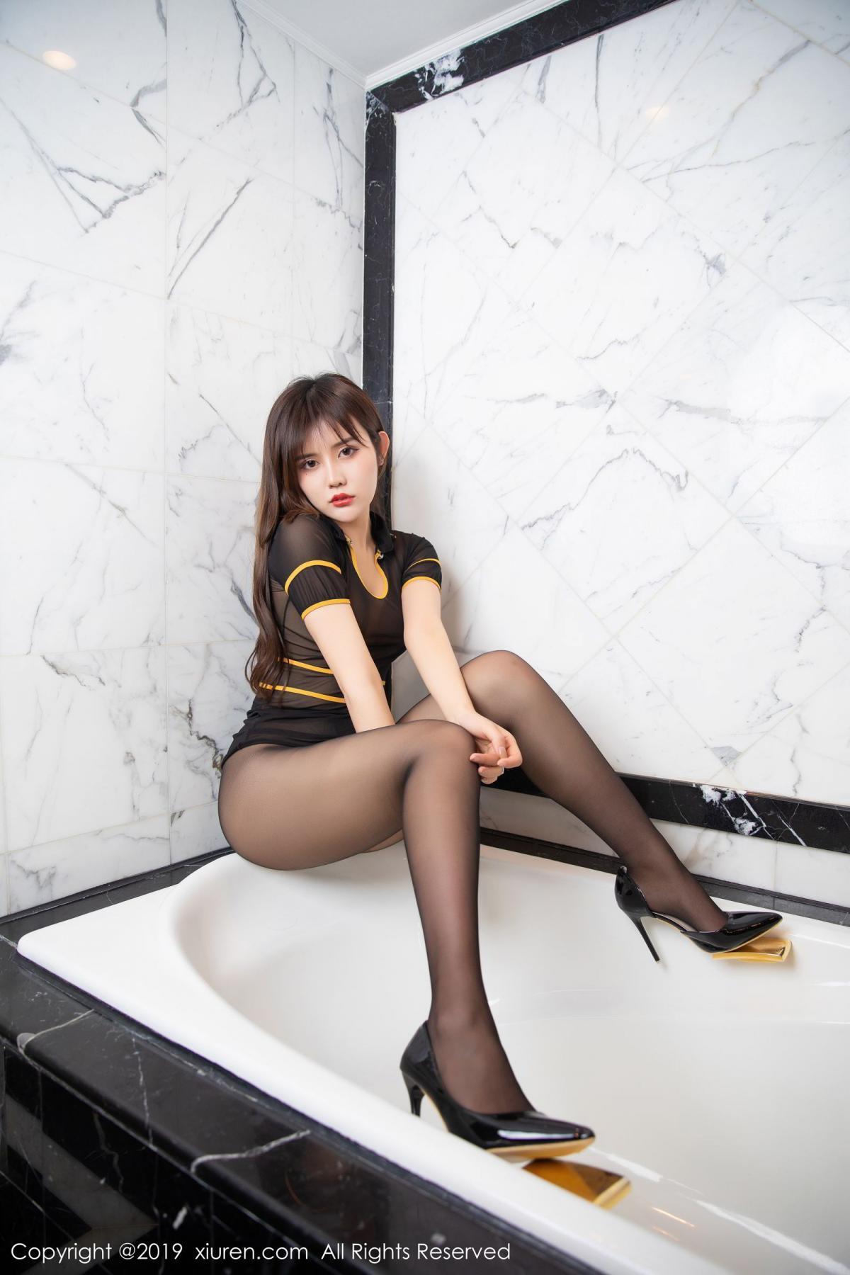[XiuRen] Vol.1688 Zhuo Ya Qi 33P, Black Silk, Underwear, Xiuren, Zhuo Ya Qi