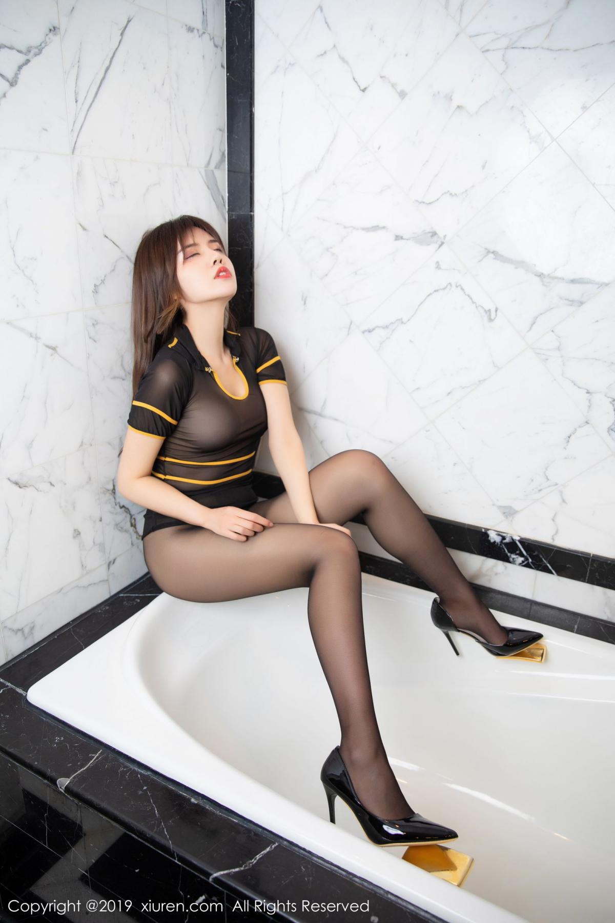 [XiuRen] Vol.1688 Zhuo Ya Qi 36P, Black Silk, Underwear, Xiuren, Zhuo Ya Qi