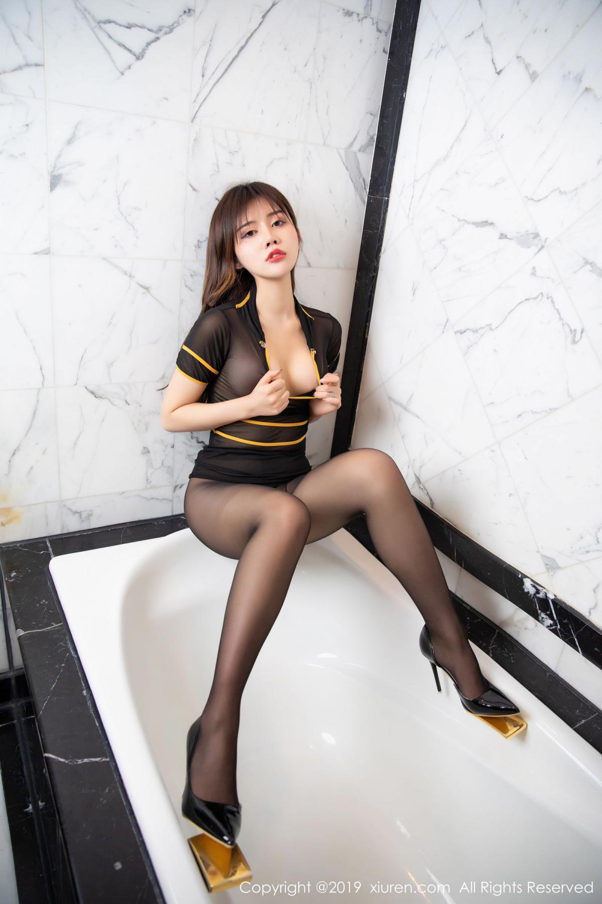 [XiuRen] Vol.1688 Zhuo Ya Qi 39P, Black Silk, Underwear, Xiuren, Zhuo Ya Qi