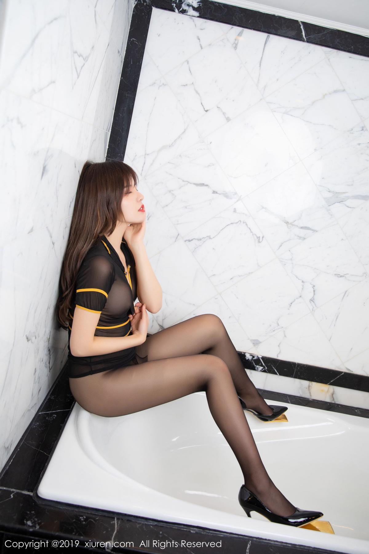 [XiuRen] Vol.1688 Zhuo Ya Qi 41P, Black Silk, Underwear, Xiuren, Zhuo Ya Qi