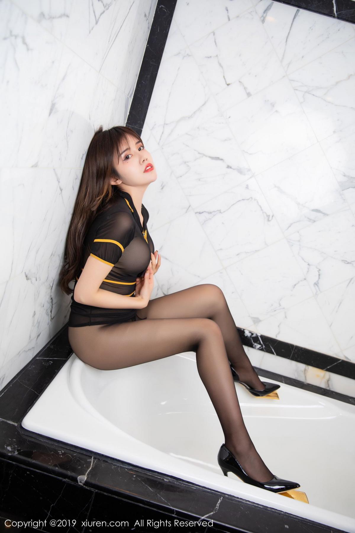 [XiuRen] Vol.1688 Zhuo Ya Qi 42P, Black Silk, Underwear, Xiuren, Zhuo Ya Qi