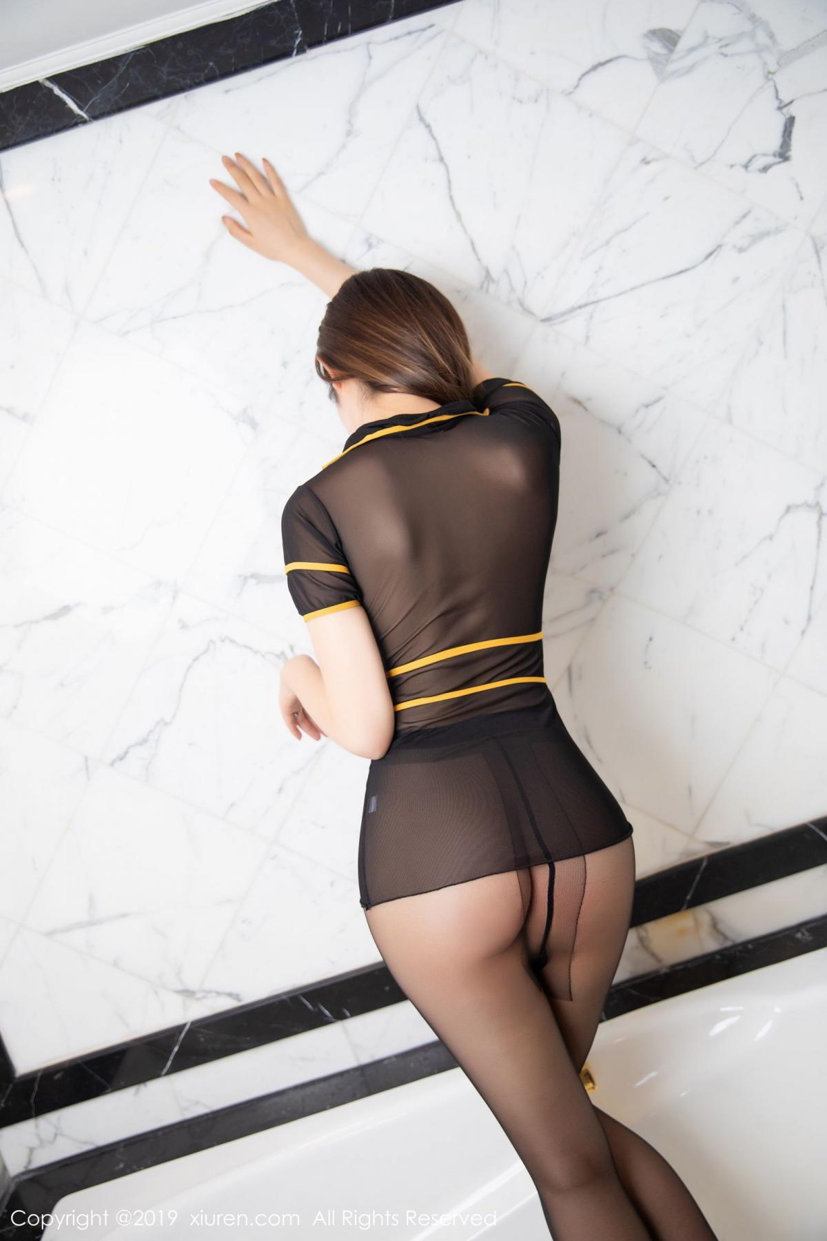 [XiuRen] Vol.1688 Zhuo Ya Qi 43P, Black Silk, Underwear, Xiuren, Zhuo Ya Qi
