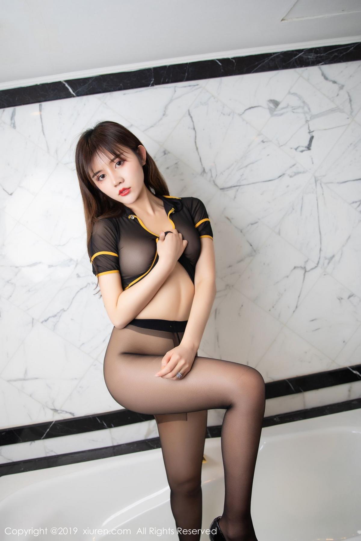 [XiuRen] Vol.1688 Zhuo Ya Qi 47P, Black Silk, Underwear, Xiuren, Zhuo Ya Qi