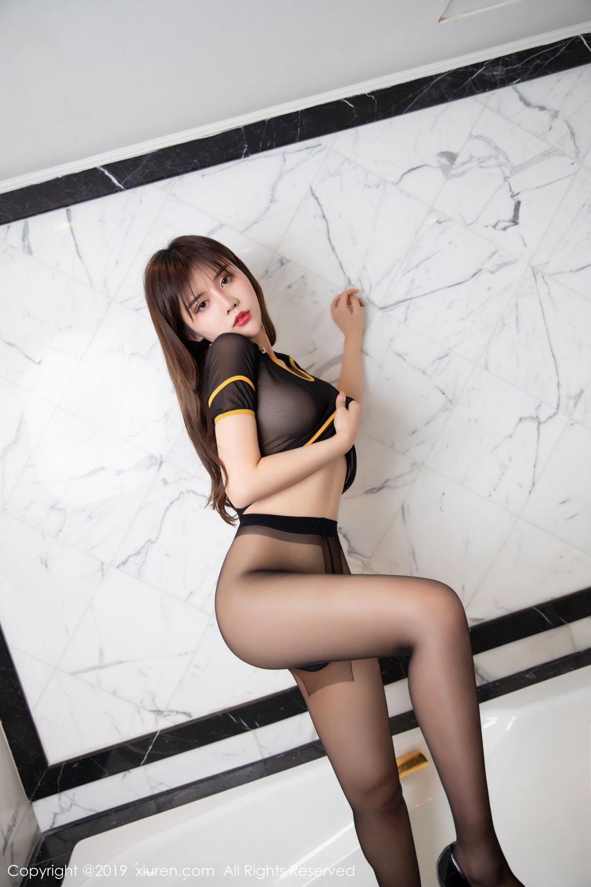 [XiuRen] Vol.1688 Zhuo Ya Qi 48P, Black Silk, Underwear, Xiuren, Zhuo Ya Qi