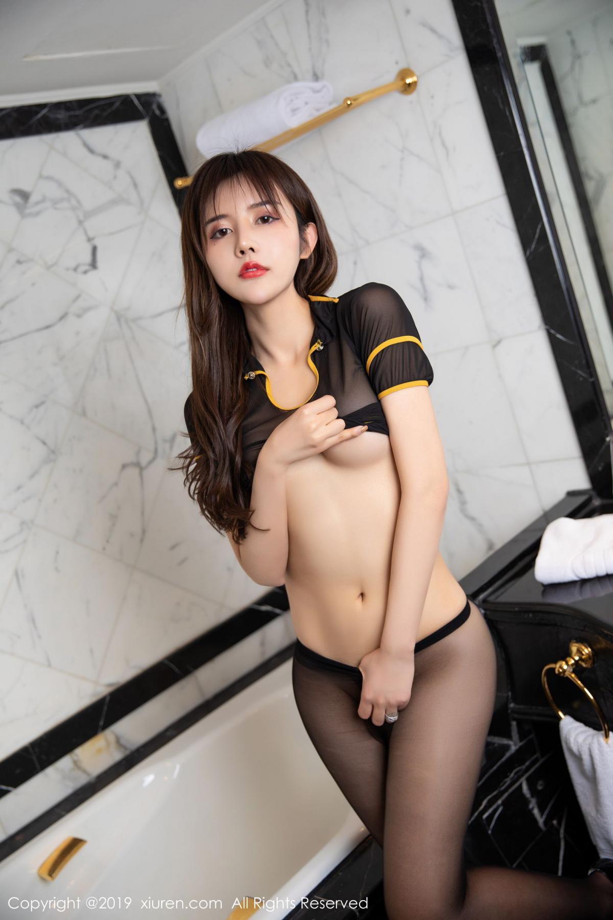 [XiuRen] Vol.1688 Zhuo Ya Qi 62P, Black Silk, Underwear, Xiuren, Zhuo Ya Qi