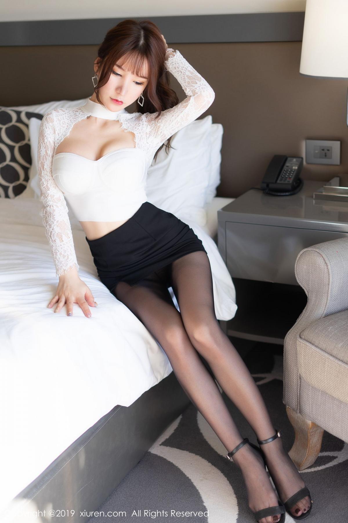 [XiuRen] Vol.1691 Zhou Yu Xi 10P, Black Silk, Underwear, Xiuren, Zhou Yu Xi