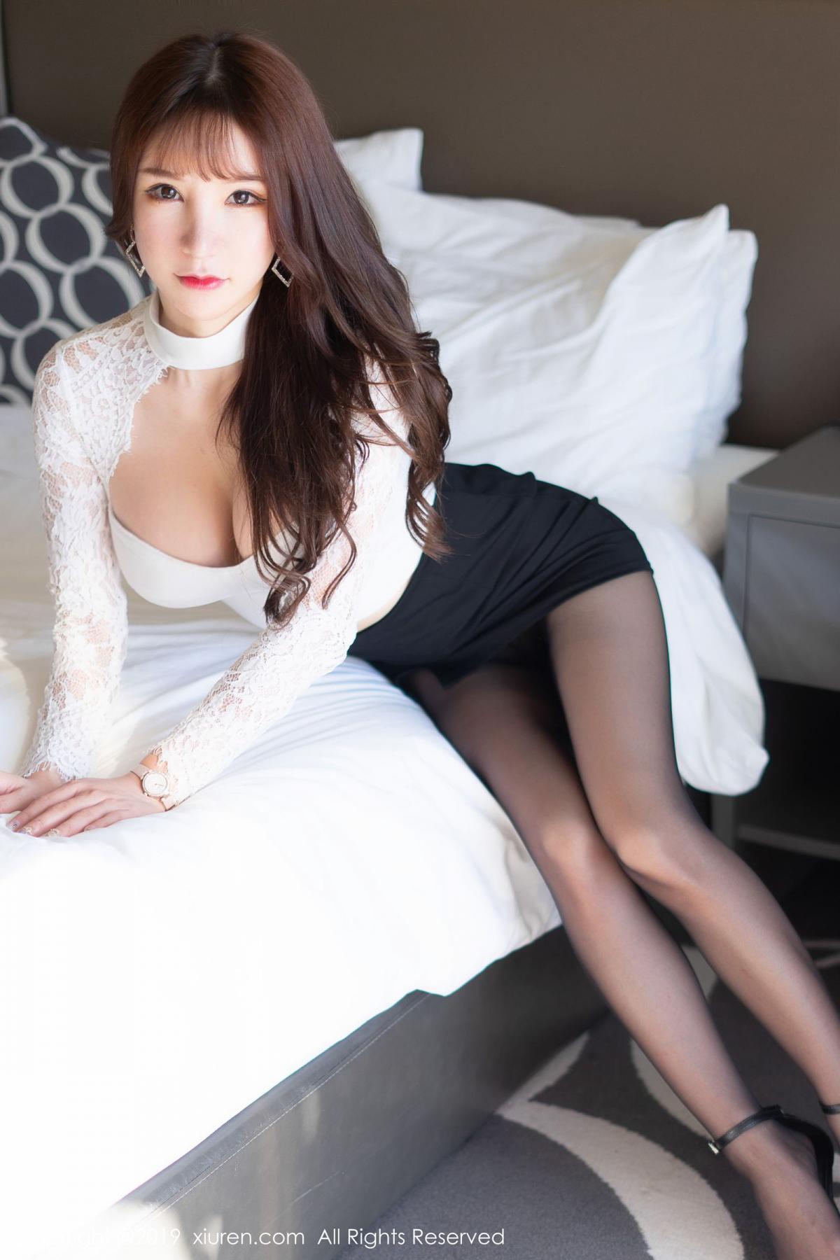 [XiuRen] Vol.1691 Zhou Yu Xi 11P, Black Silk, Underwear, Xiuren, Zhou Yu Xi