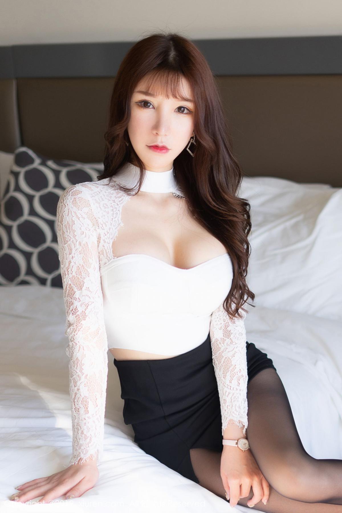 [XiuRen] Vol.1691 Zhou Yu Xi 16P, Black Silk, Underwear, Xiuren, Zhou Yu Xi