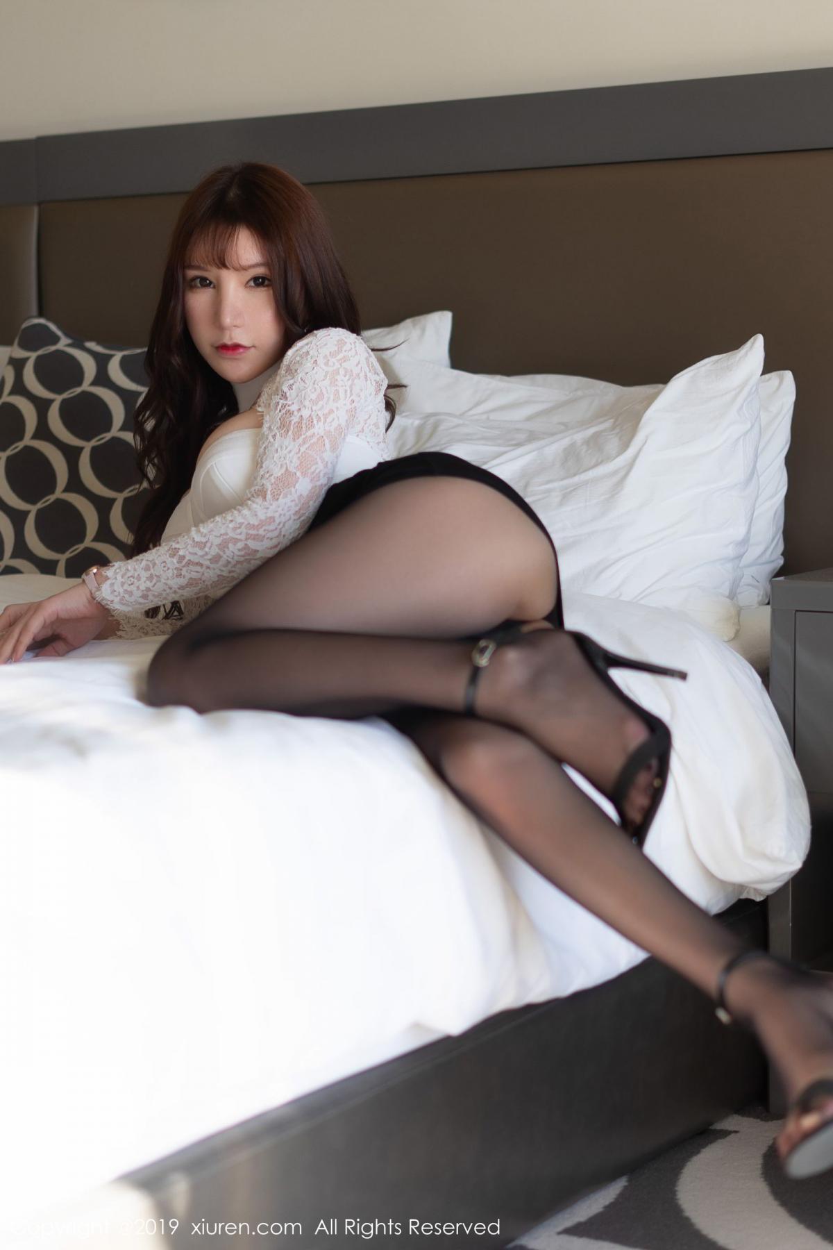 [XiuRen] Vol.1691 Zhou Yu Xi 27P, Black Silk, Underwear, Xiuren, Zhou Yu Xi