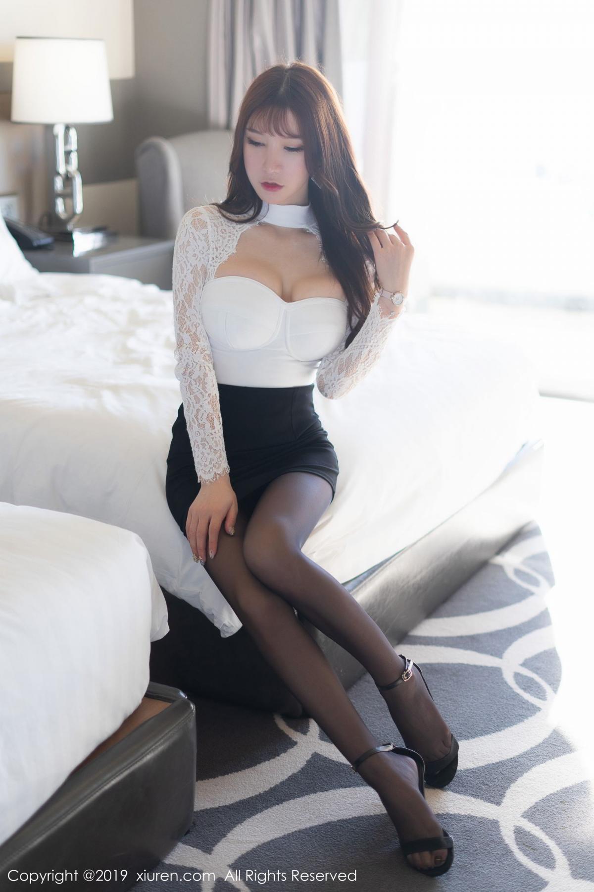 [XiuRen] Vol.1691 Zhou Yu Xi 2P, Black Silk, Underwear, Xiuren, Zhou Yu Xi