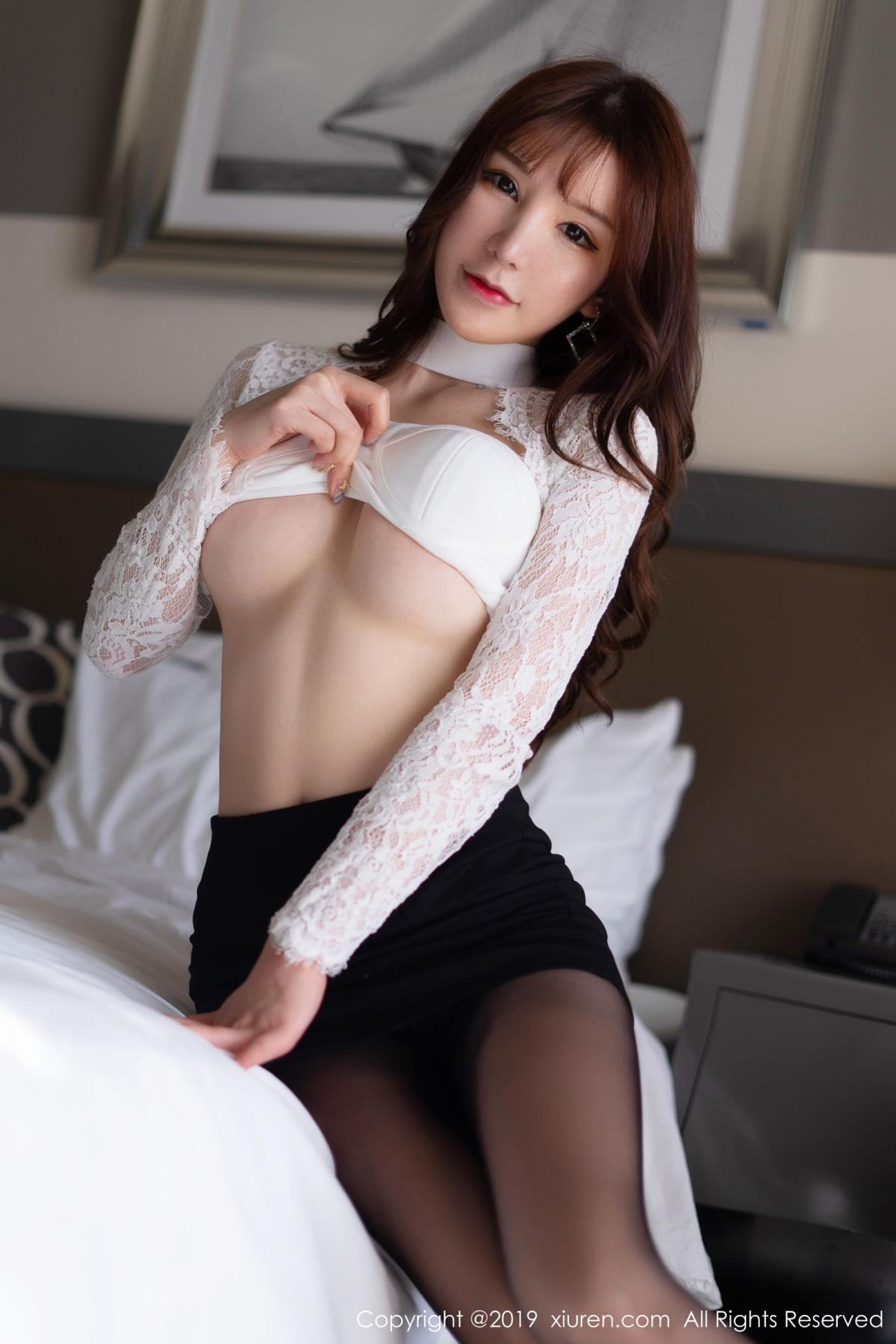 [XiuRen] Vol.1691 Zhou Yu Xi 37P, Black Silk, Underwear, Xiuren, Zhou Yu Xi