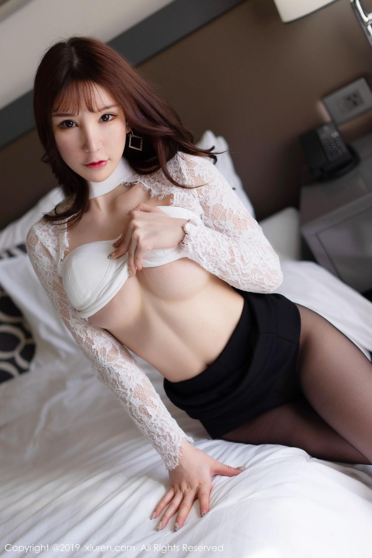 [XiuRen] Vol.1691 Zhou Yu Xi 38P, Black Silk, Underwear, Xiuren, Zhou Yu Xi