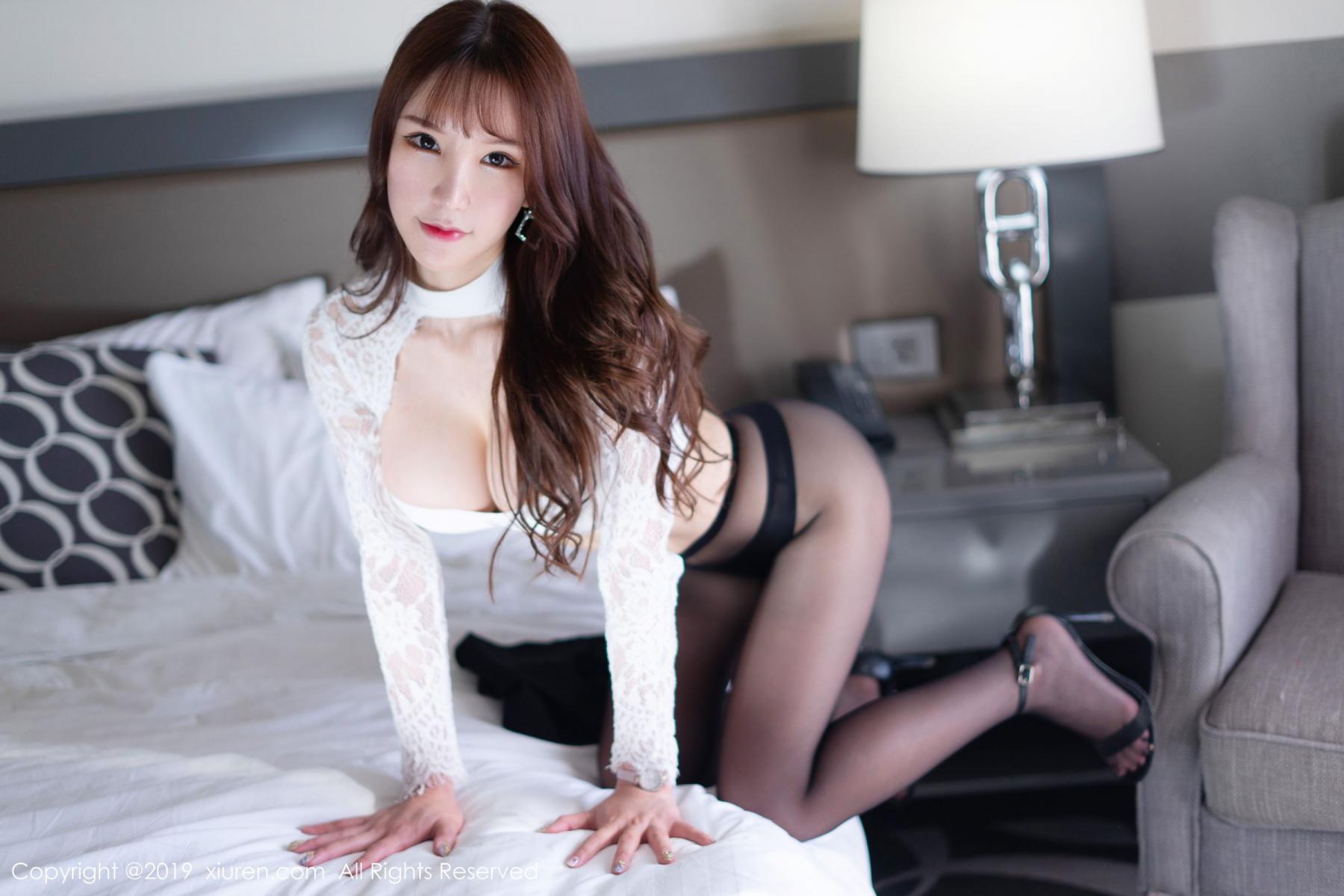 [XiuRen] Vol.1691 Zhou Yu Xi 40P, Black Silk, Underwear, Xiuren, Zhou Yu Xi