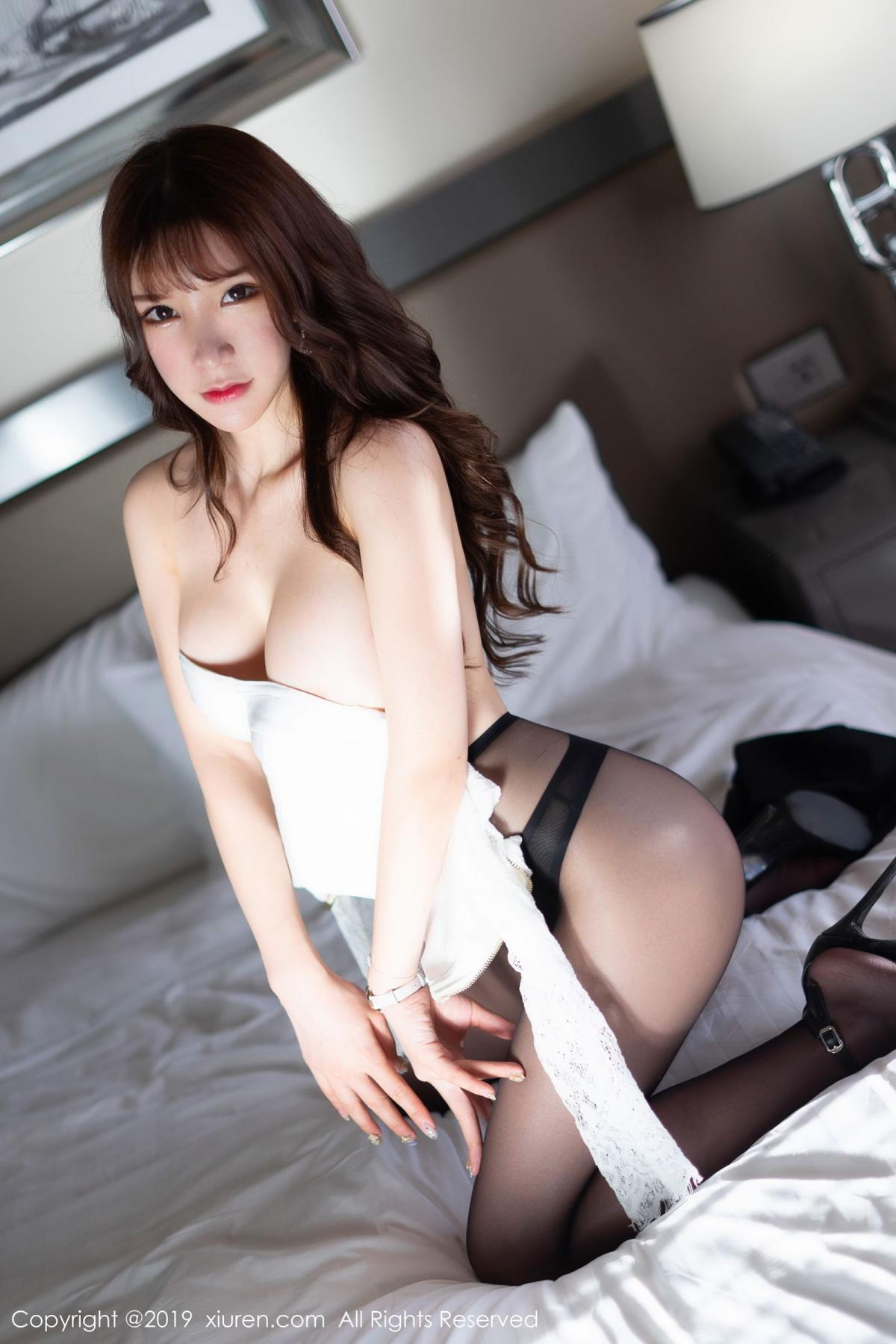 [XiuRen] Vol.1691 Zhou Yu Xi 53P, Black Silk, Underwear, Xiuren, Zhou Yu Xi