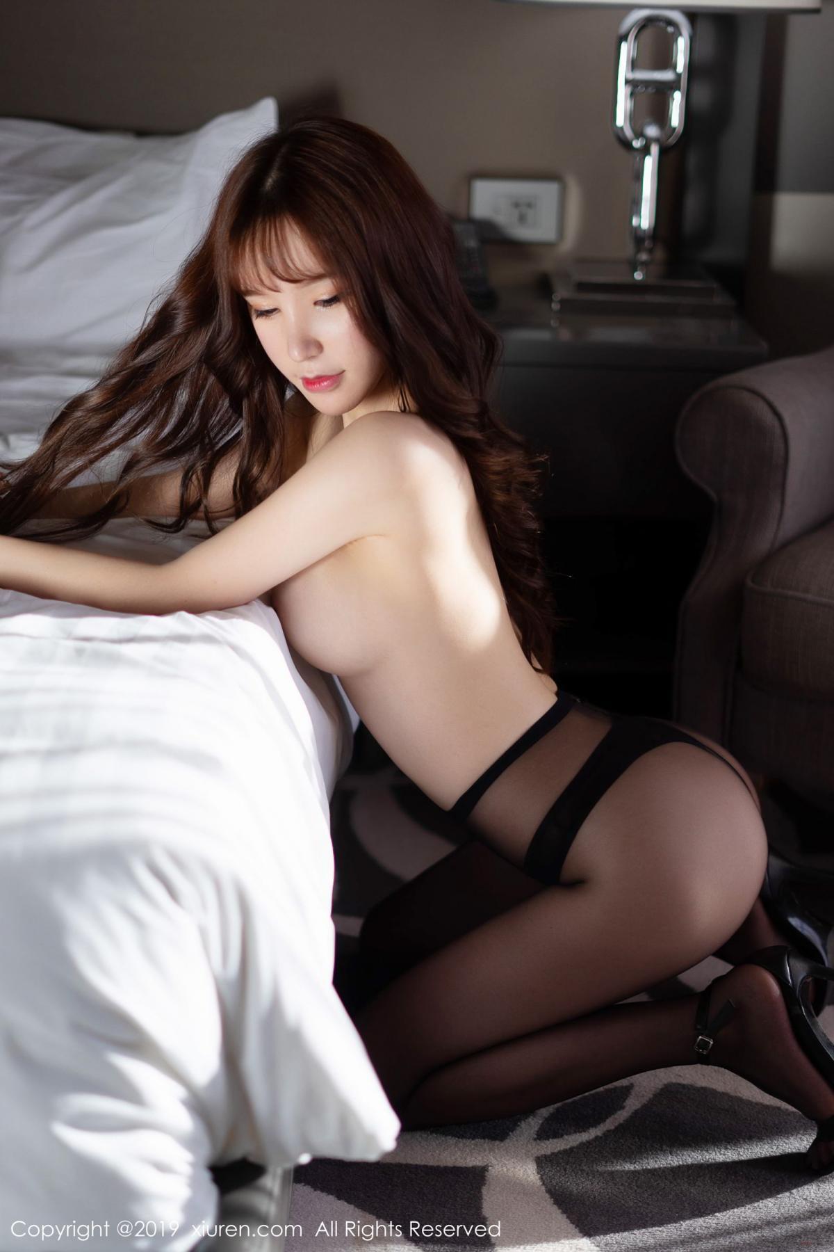 [XiuRen] Vol.1691 Zhou Yu Xi 55P, Black Silk, Underwear, Xiuren, Zhou Yu Xi