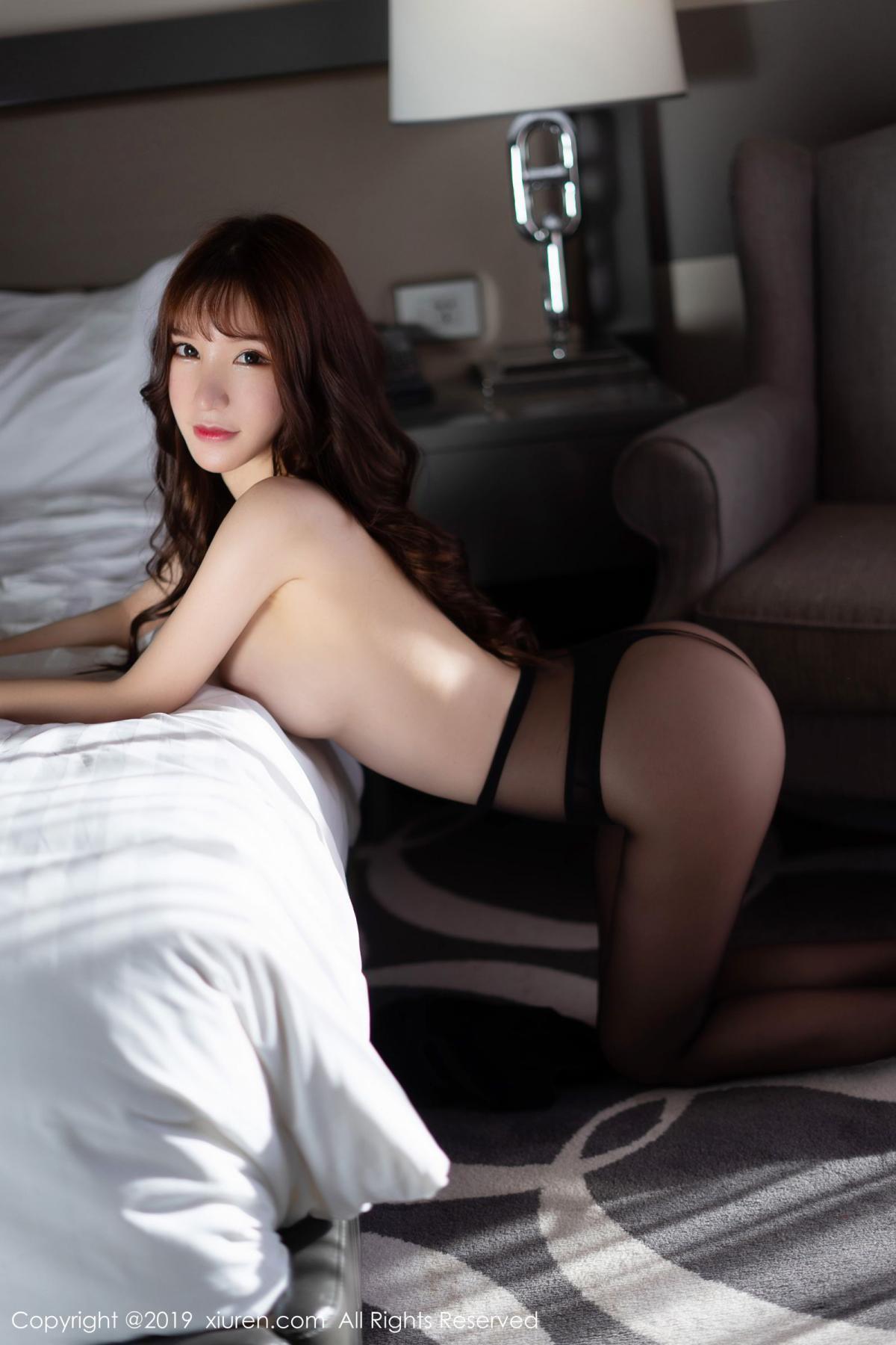 [XiuRen] Vol.1691 Zhou Yu Xi 56P, Black Silk, Underwear, Xiuren, Zhou Yu Xi