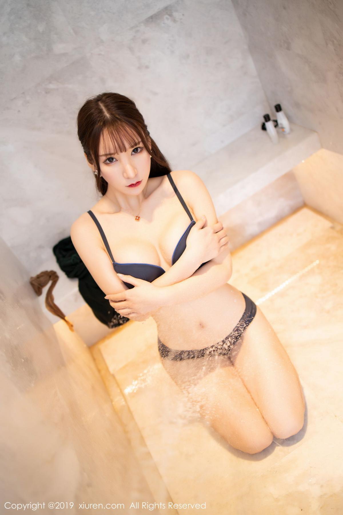 [XiuRen] Vol.1703 Zhou Yu Xi 58P, Bathroom, Wet, Xiuren, Zhou Yu Xi