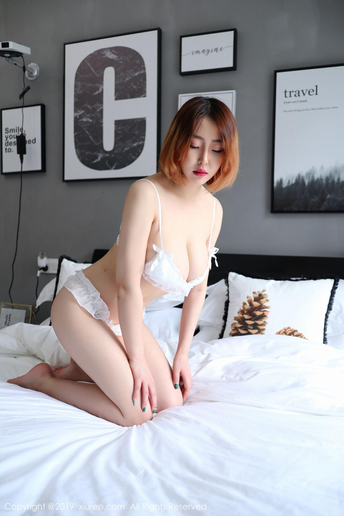 [XiuRen] Vol.1711 Yao A Yao De Yao 10P, Fair Skin, Underwear, Xiuren, Yao A Yao De Yao