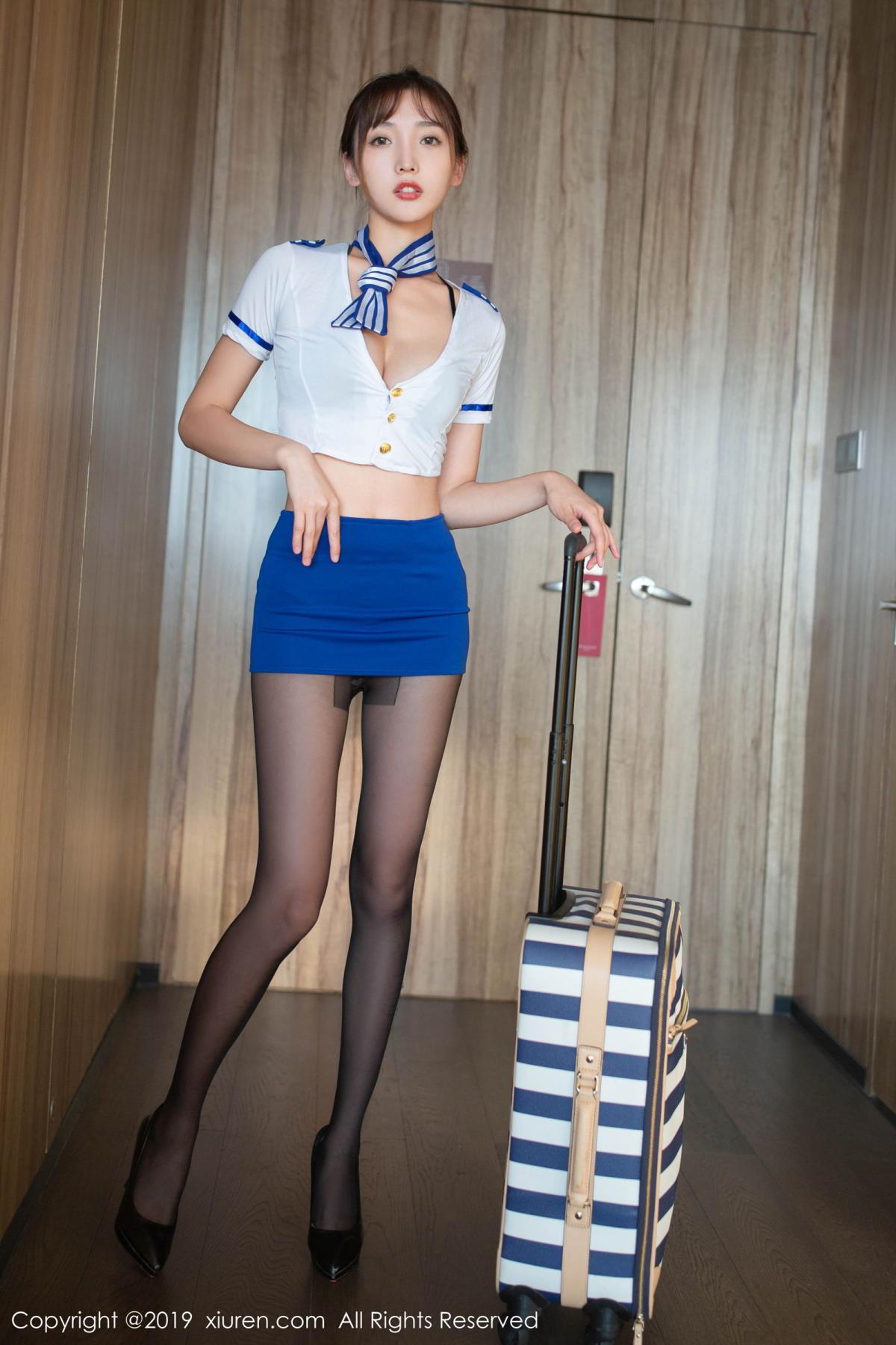 [XiuRen] Vol.1716 Lu Xuan Xuan 2 32P, Black Silk, Lu Xuan Xuan, Stewardess, Uniform, Xiuren