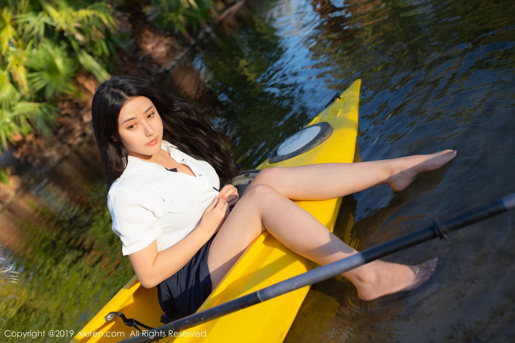 [XiuRen] Vol.1719 Ma Lu Na 19P, Big Booty, Ma Lu Na, Outdoor, School Uniform, Xiuren