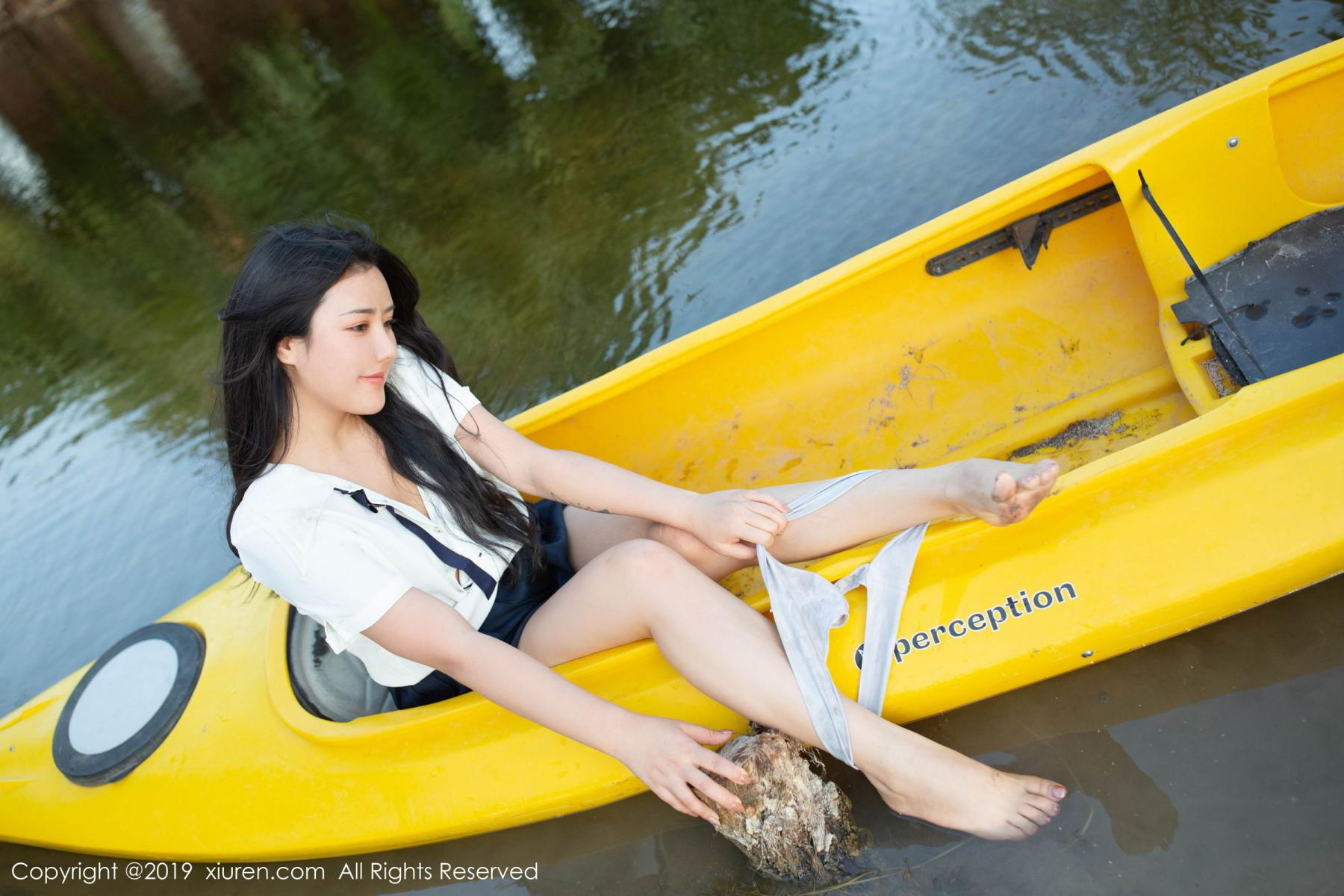 [XiuRen] Vol.1719 Ma Lu Na 51P, Big Booty, Ma Lu Na, Outdoor, School Uniform, Xiuren